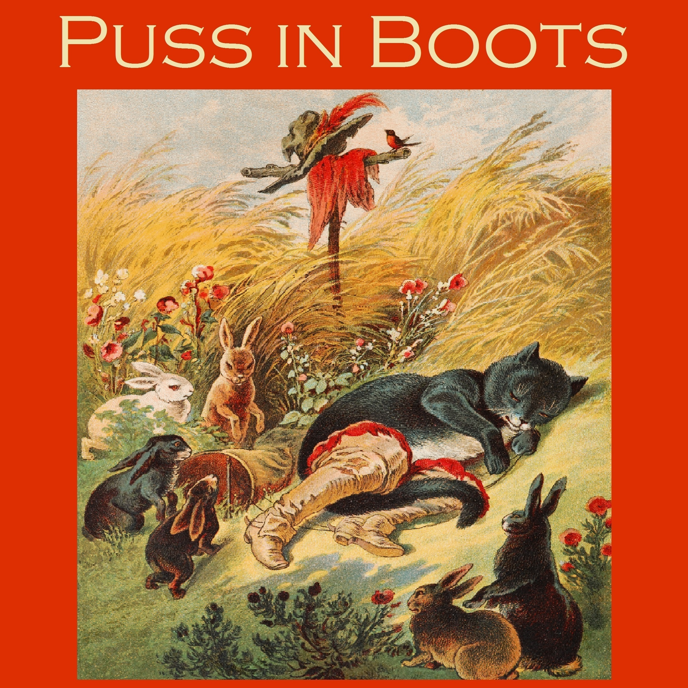 Printable Puss in Boots Audiobook Cover Art
