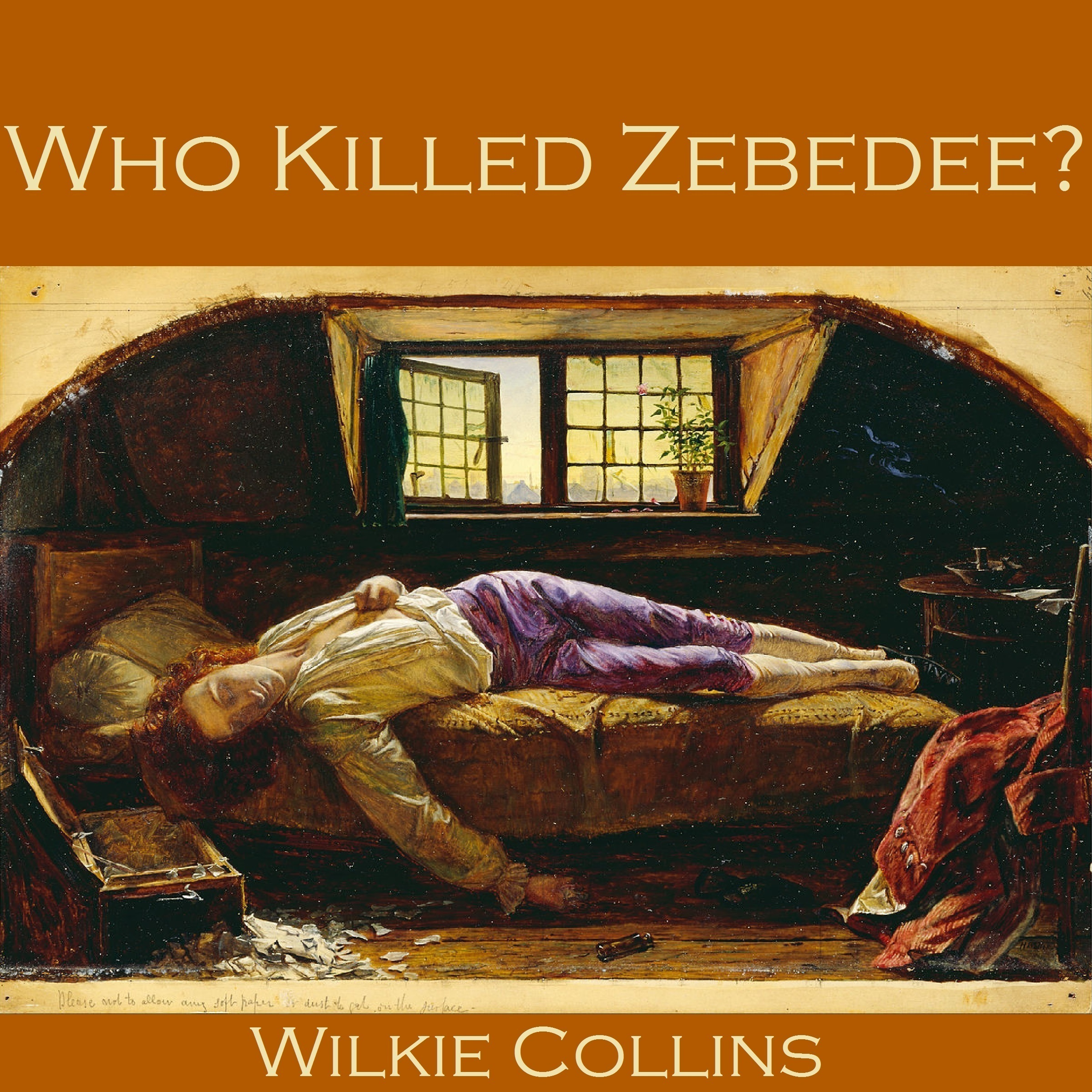 Printable Who Killed Zebedee? Audiobook Cover Art