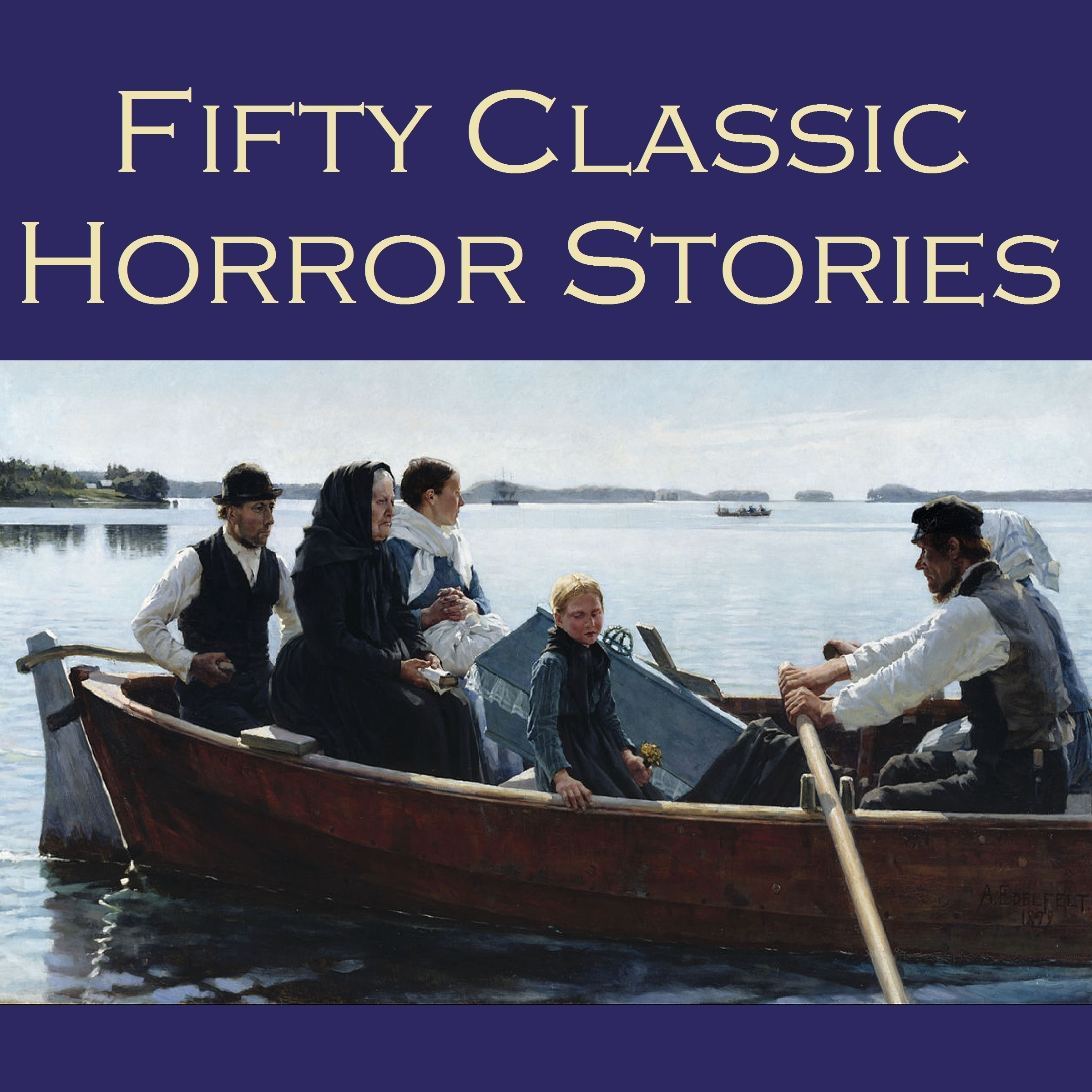 Printable Fifty Classic Horror Stories Audiobook Cover Art