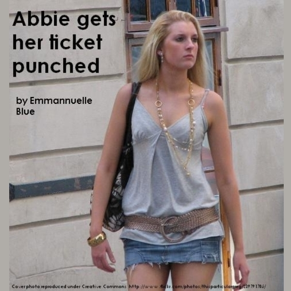 Printable Abbie Gets Her Ticket Punched Audiobook Cover Art