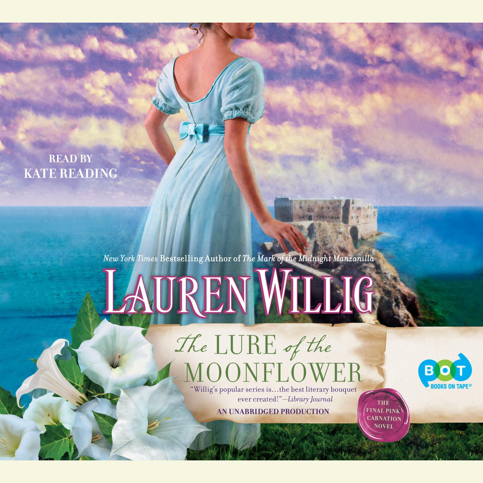 Printable The Lure of the Moonflower: A Pink Carnation Novel Audiobook Cover Art