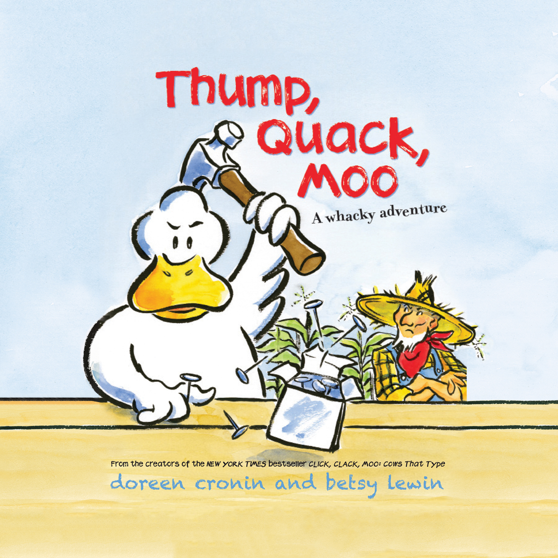 Printable Thump, Quack, Moo: A Whacky Adventure Audiobook Cover Art
