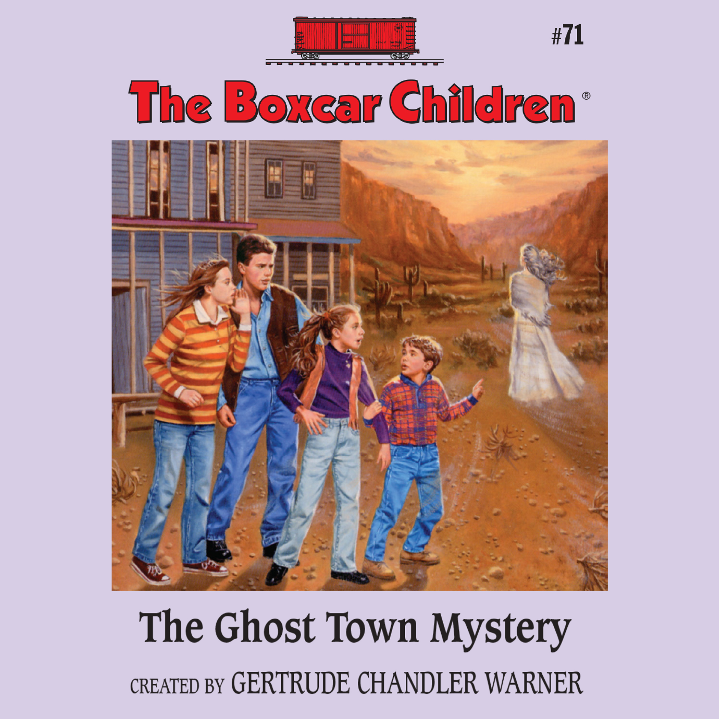 Printable The Ghost Town Mystery Audiobook Cover Art