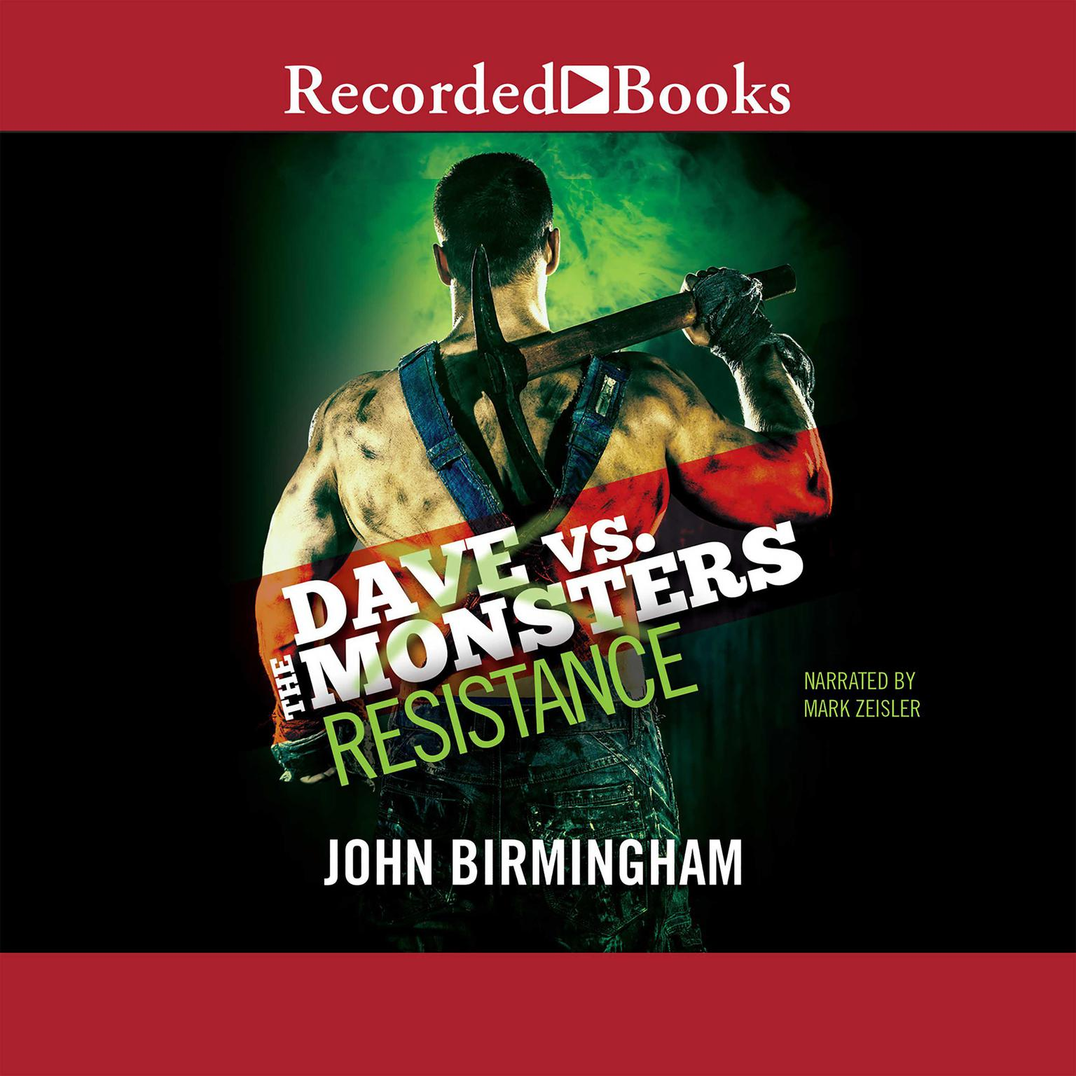 Printable Resistance: Dave vs. the Monsters Audiobook Cover Art