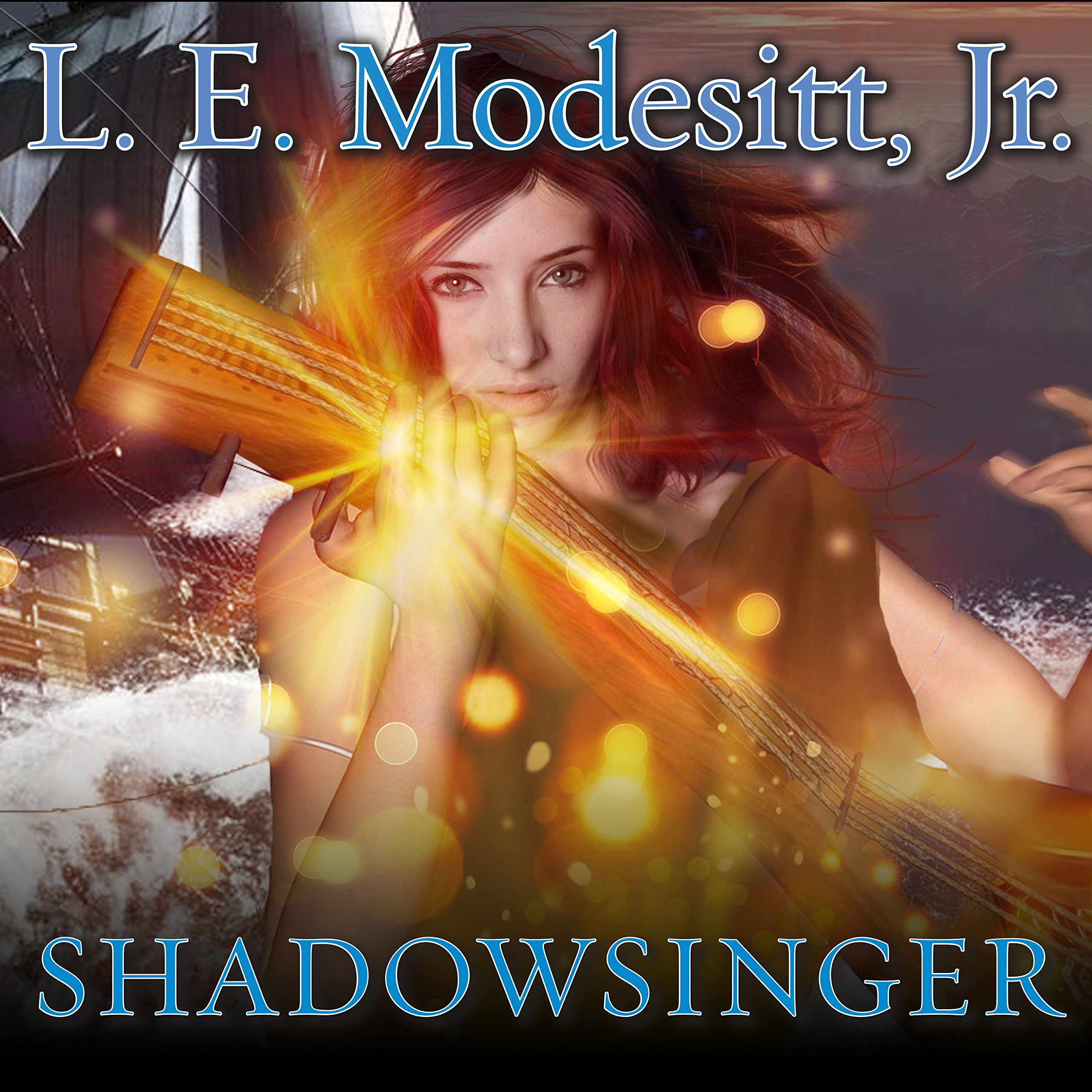 Printable Shadowsinger: A Spellsong Cycle Novel Audiobook Cover Art