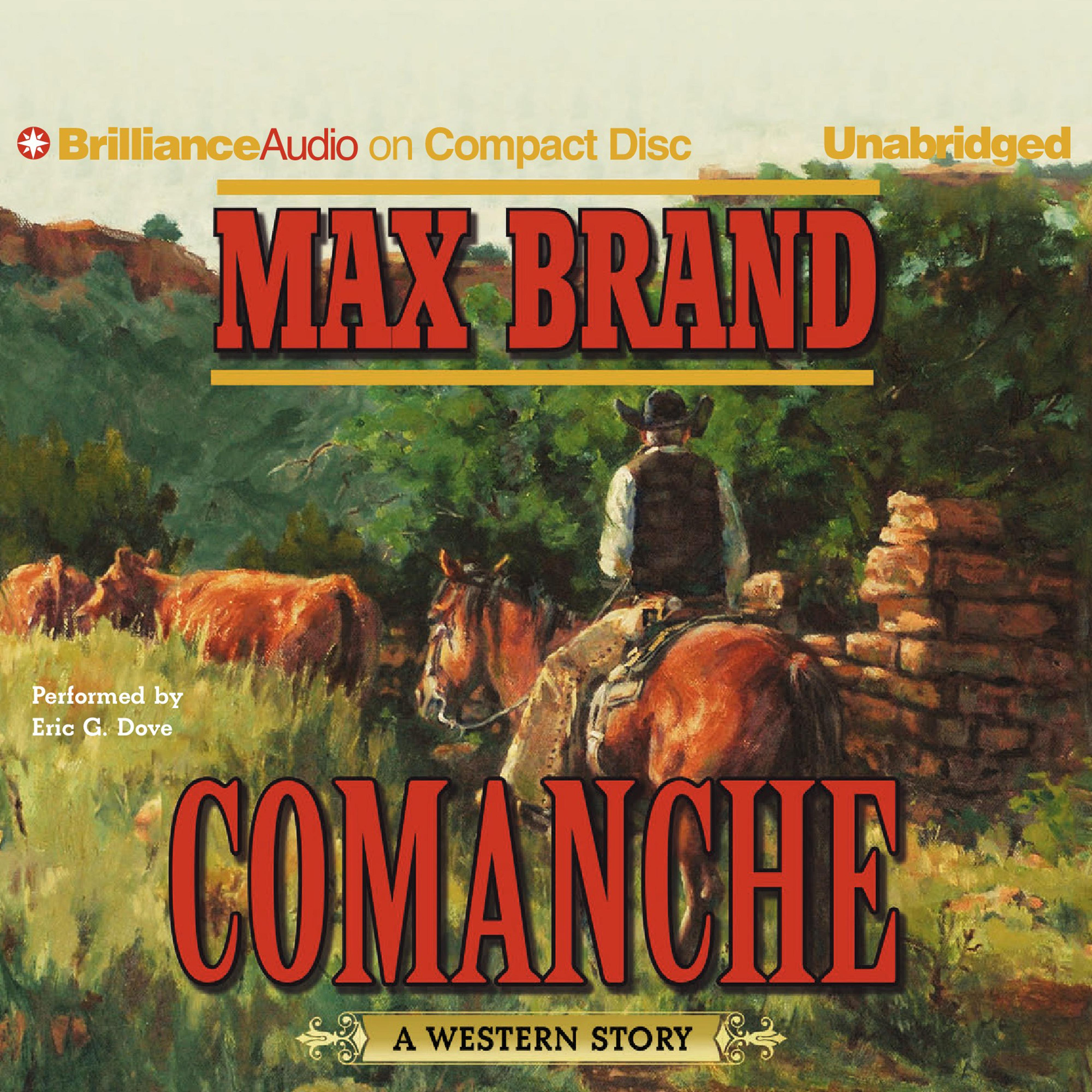 Printable Comanche: A Western Story Audiobook Cover Art