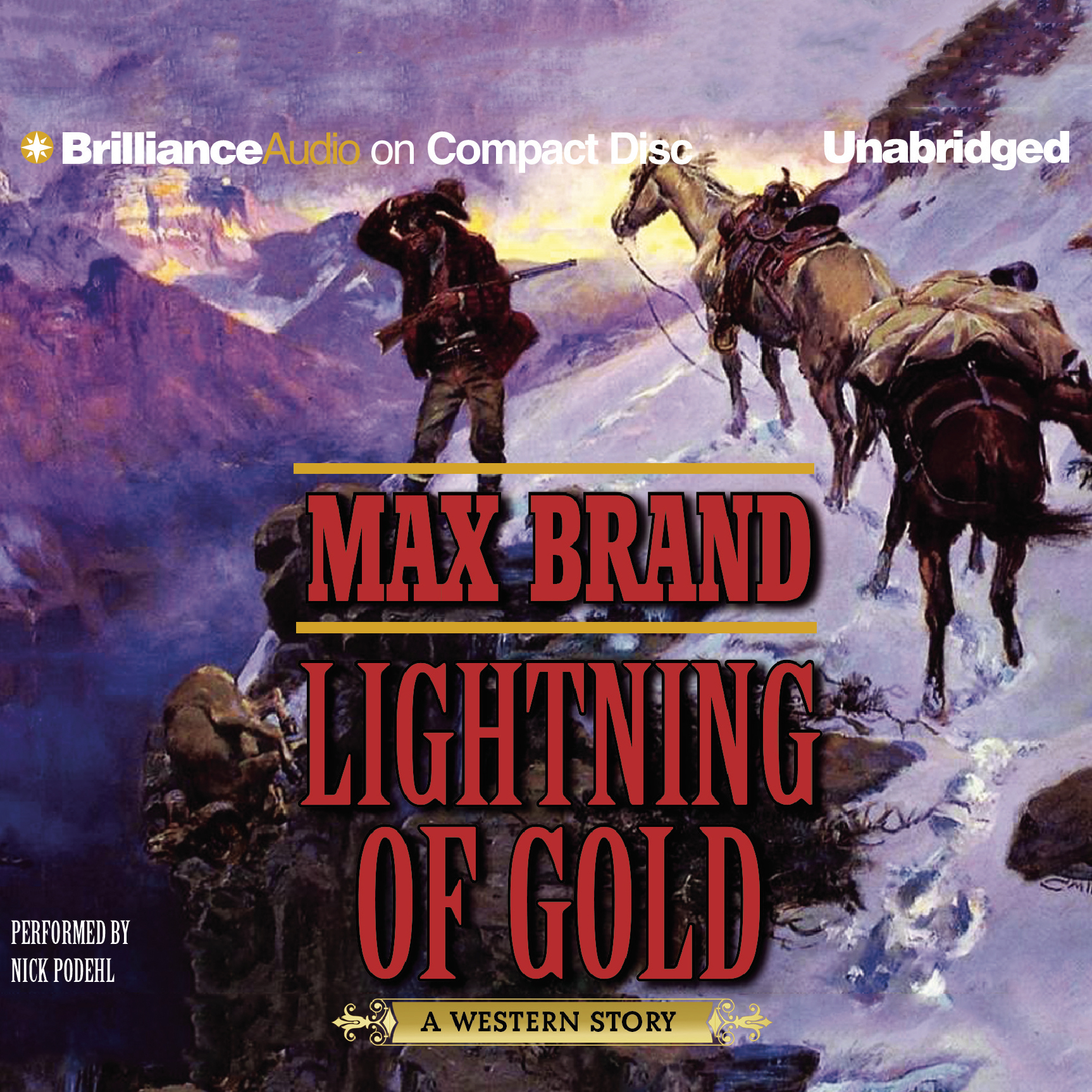 Printable Lightning of Gold: A Western Story Audiobook Cover Art