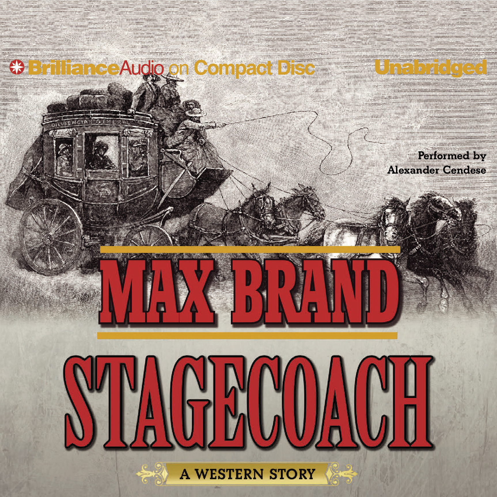 Printable Stagecoach: A Western Story Audiobook Cover Art
