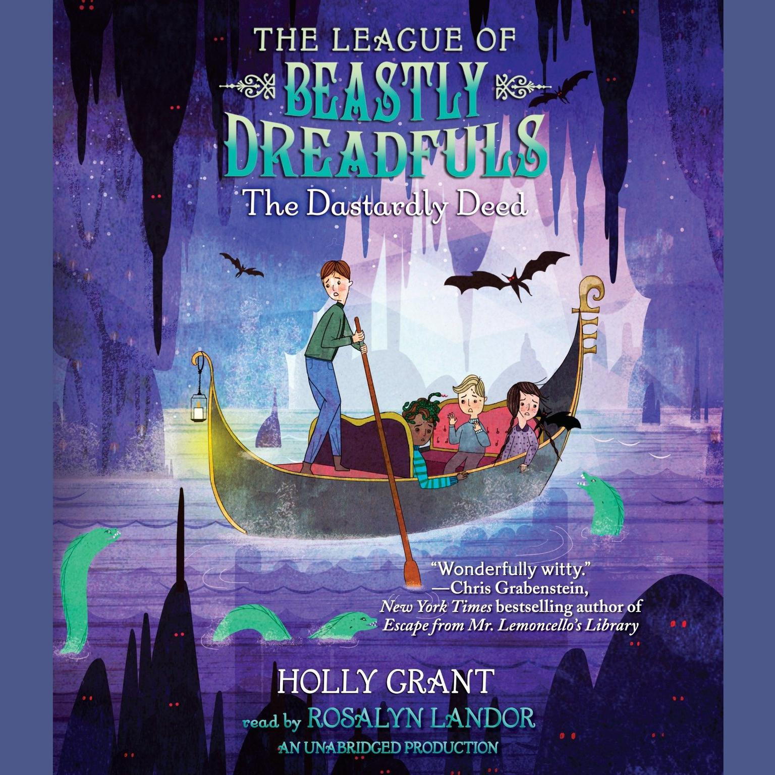 Printable The League of Beastly Dreadfuls Book 2: The Dastardly Deed Audiobook Cover Art