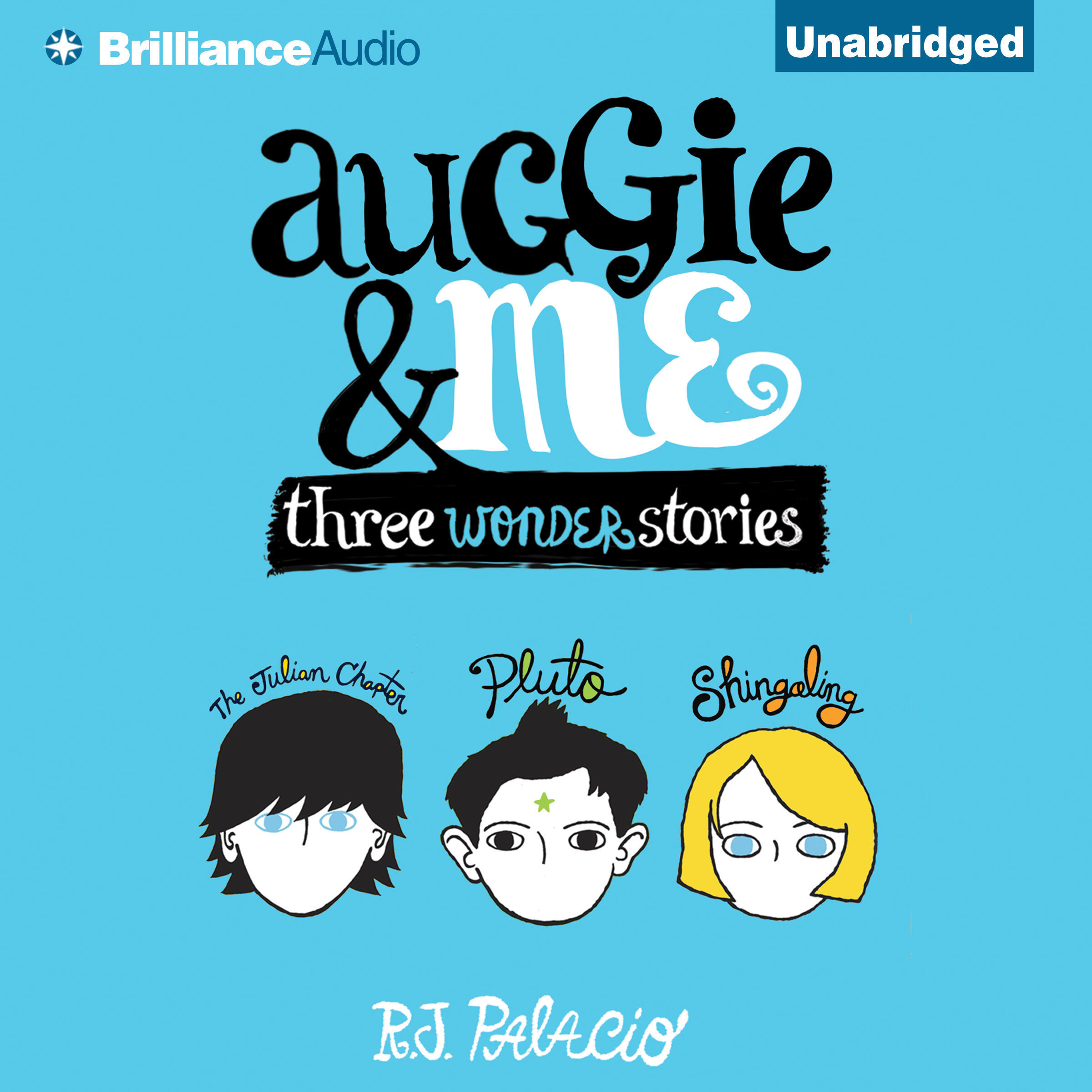 Printable Auggie & Me: Three Wonder Stories Audiobook Cover Art