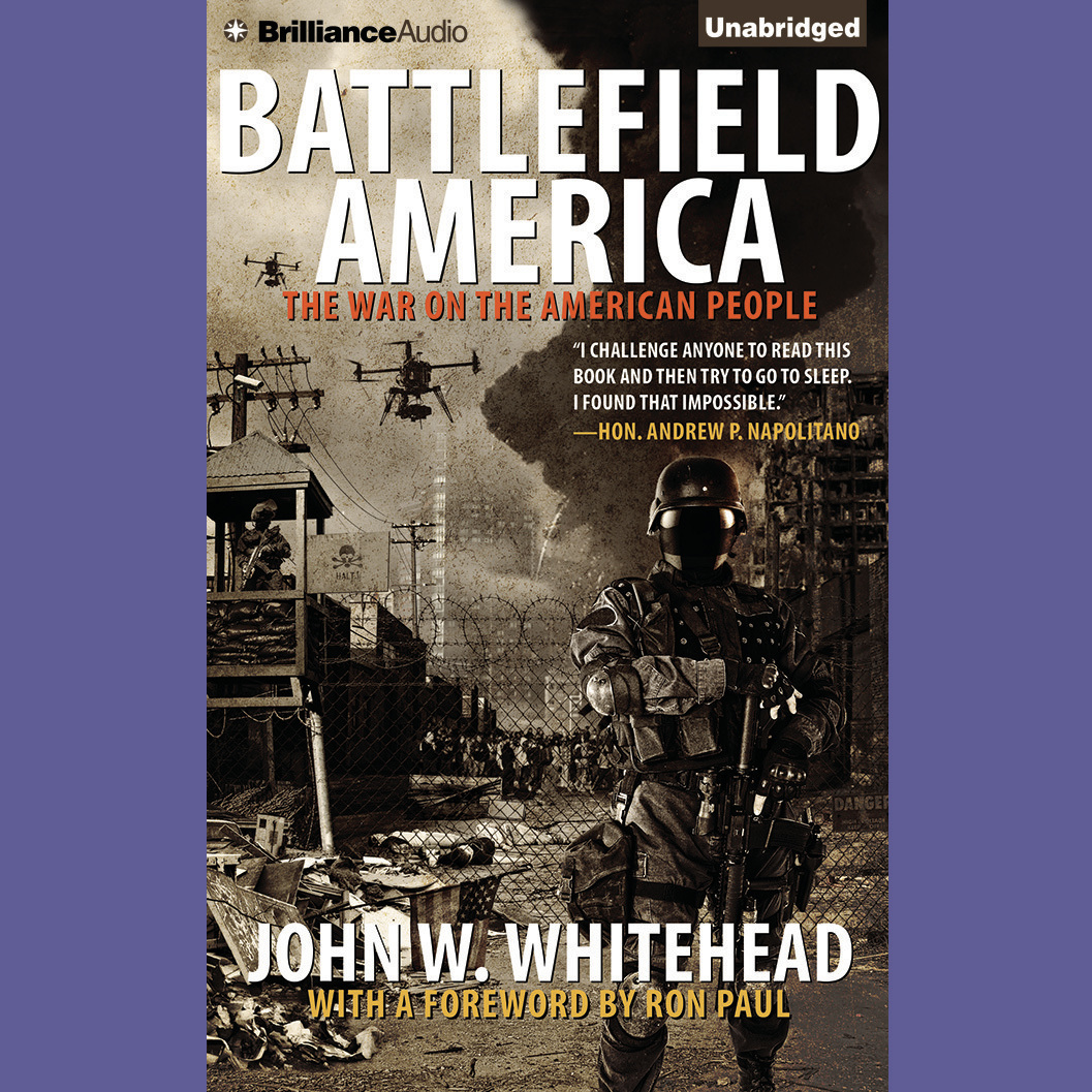 Printable Battlefield America: The War on the American People Audiobook Cover Art