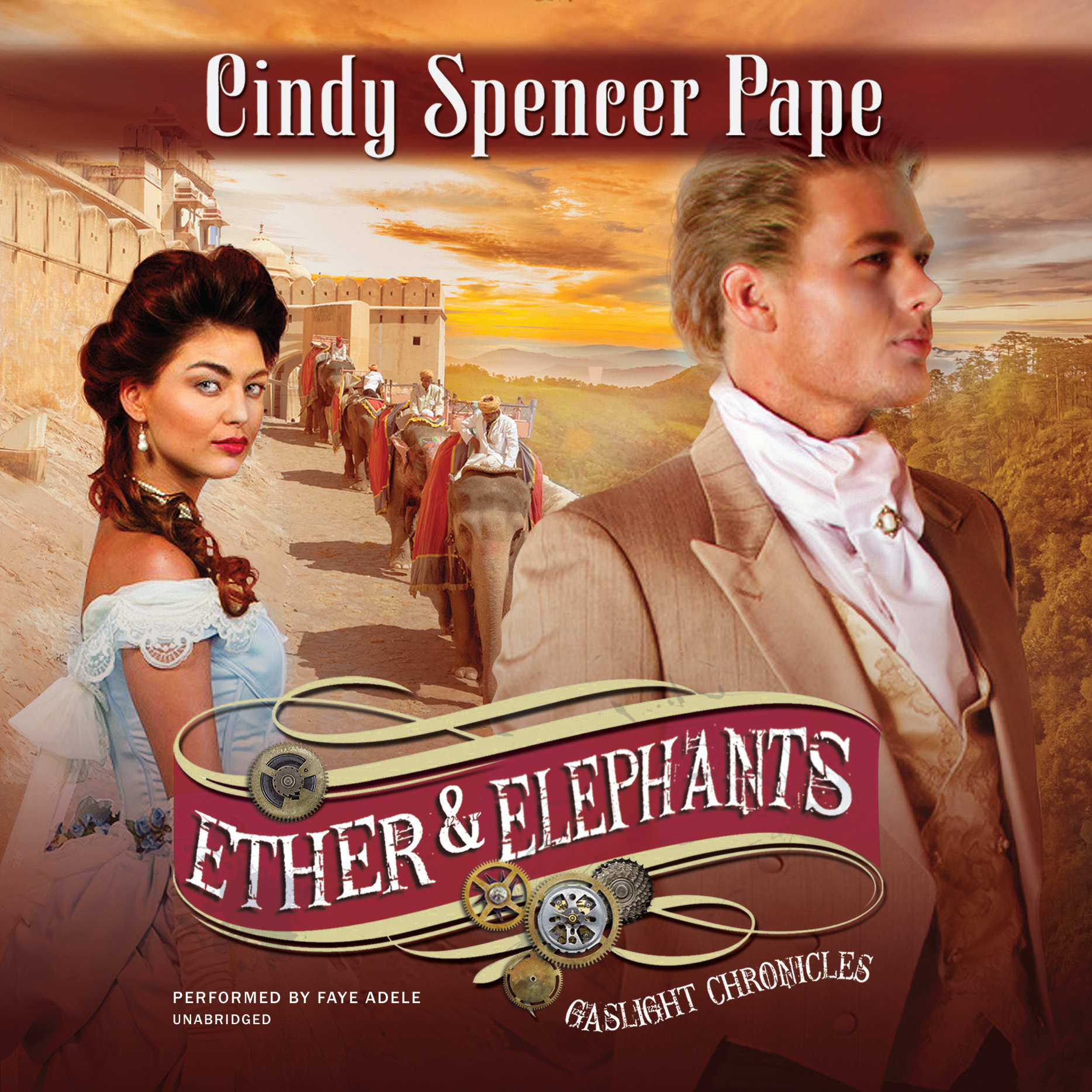 Printable Ether & Elephants Audiobook Cover Art