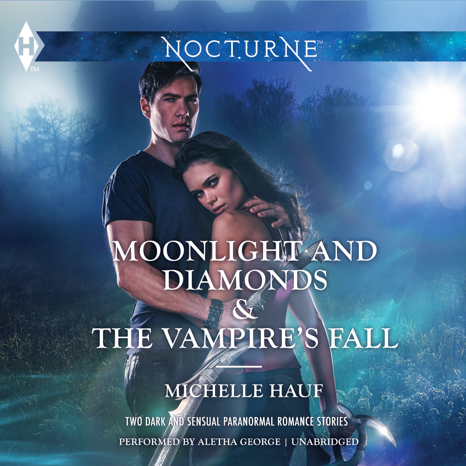 Printable Moonlight and Diamonds & The Vampire's Fall Audiobook Cover Art