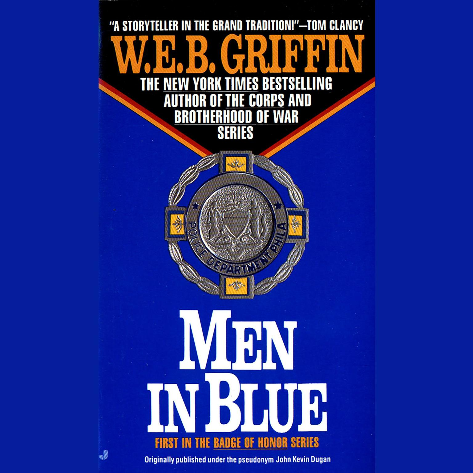 Printable Men in Blue Audiobook Cover Art