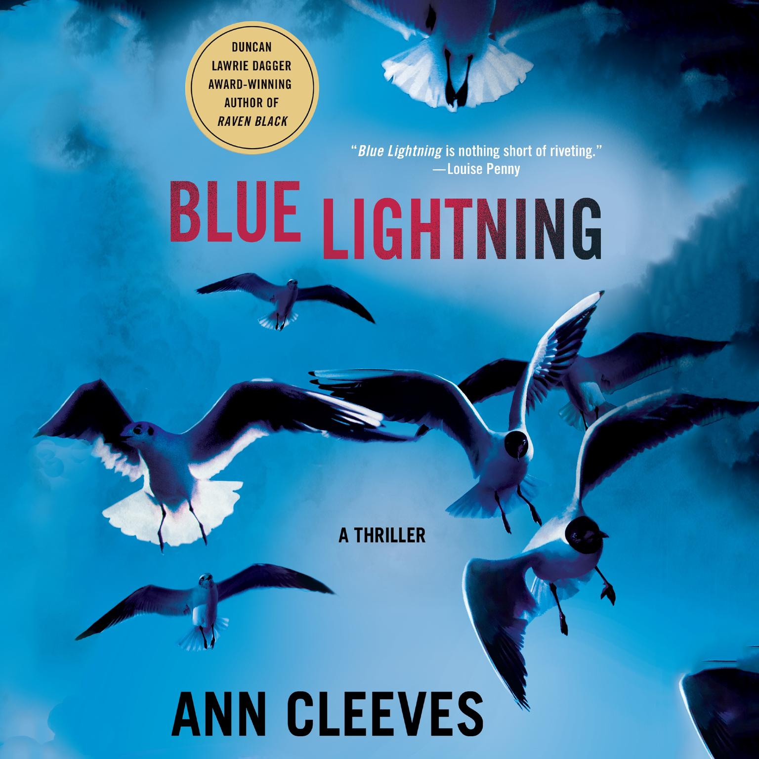 Printable Blue Lightning: A Thriller Audiobook Cover Art