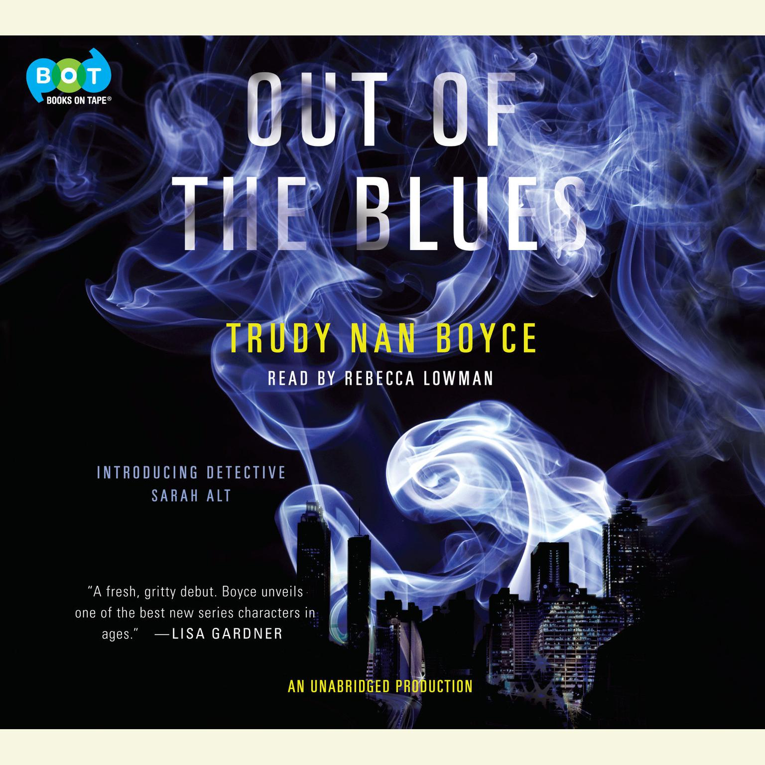Printable Out of the Blues Audiobook Cover Art