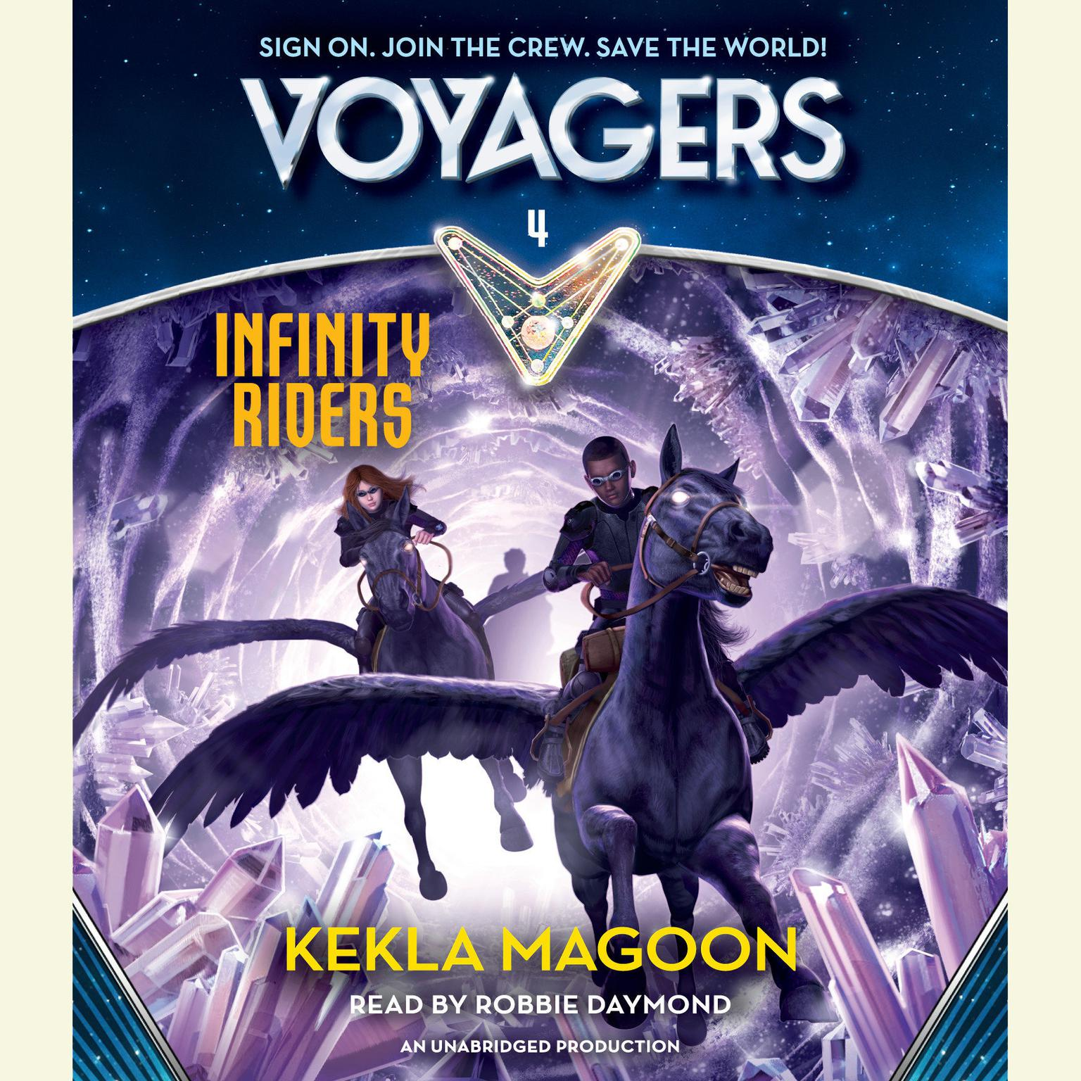 Printable Voyagers: Infinity Riders Audiobook Cover Art