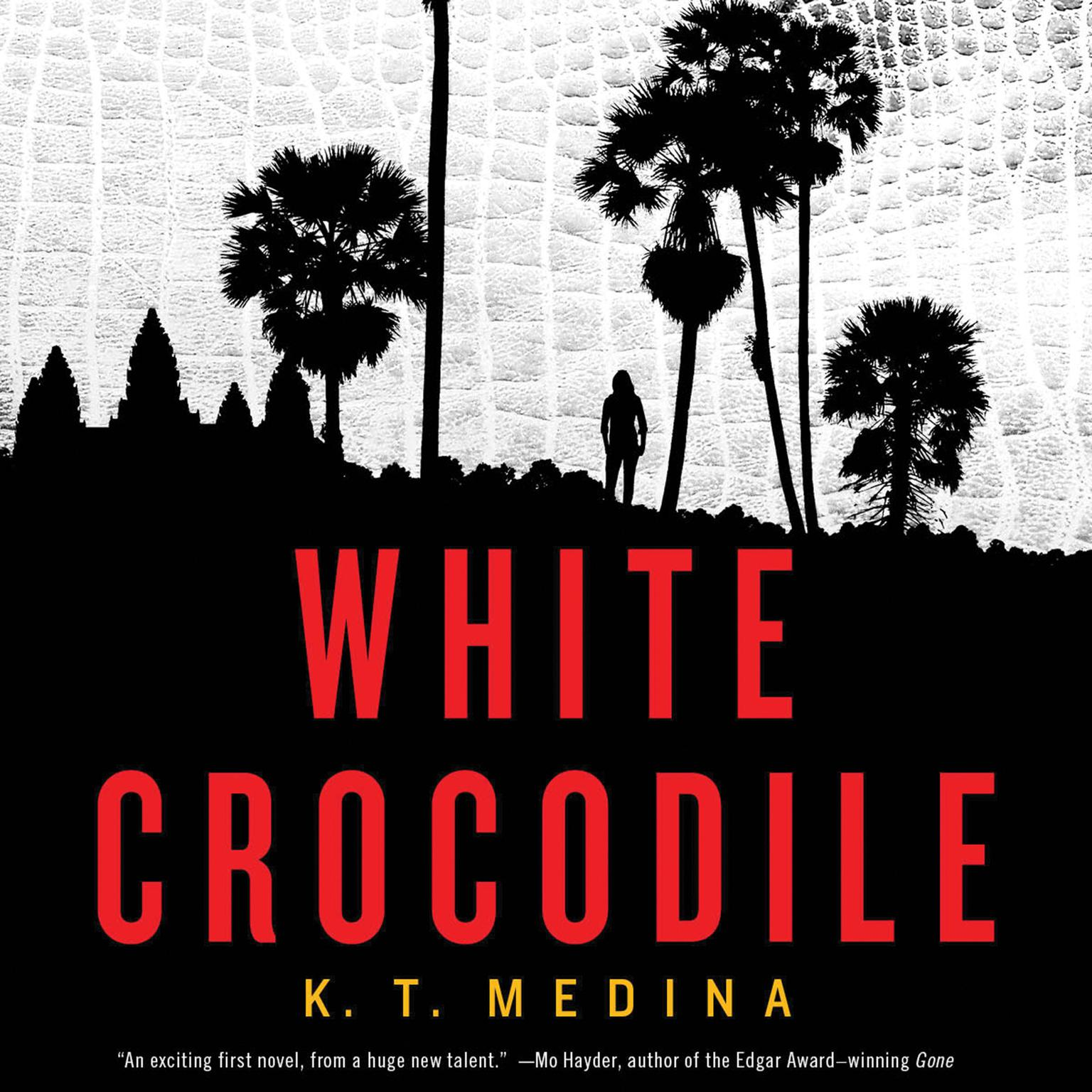 Printable White Crocodile Audiobook Cover Art