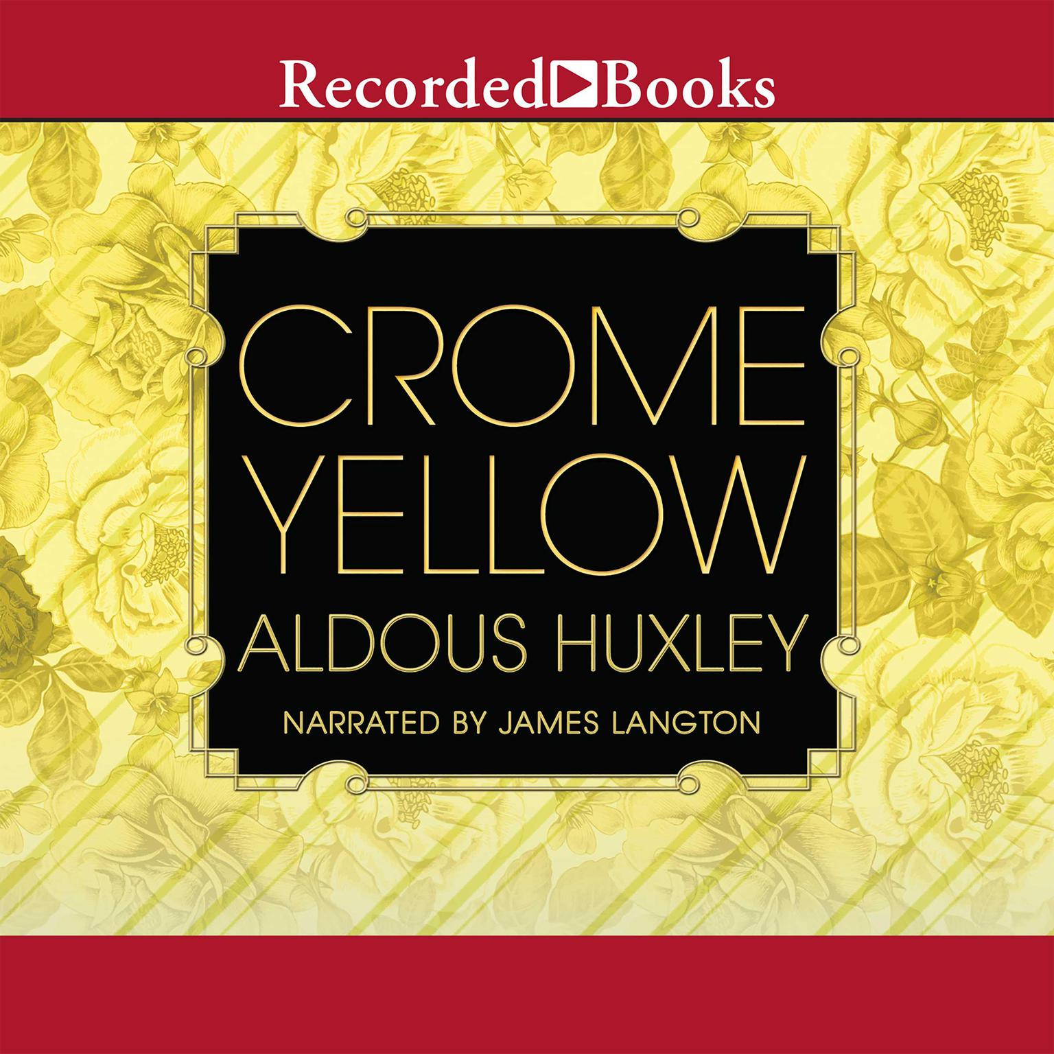 Printable Crome Yellow Audiobook Cover Art