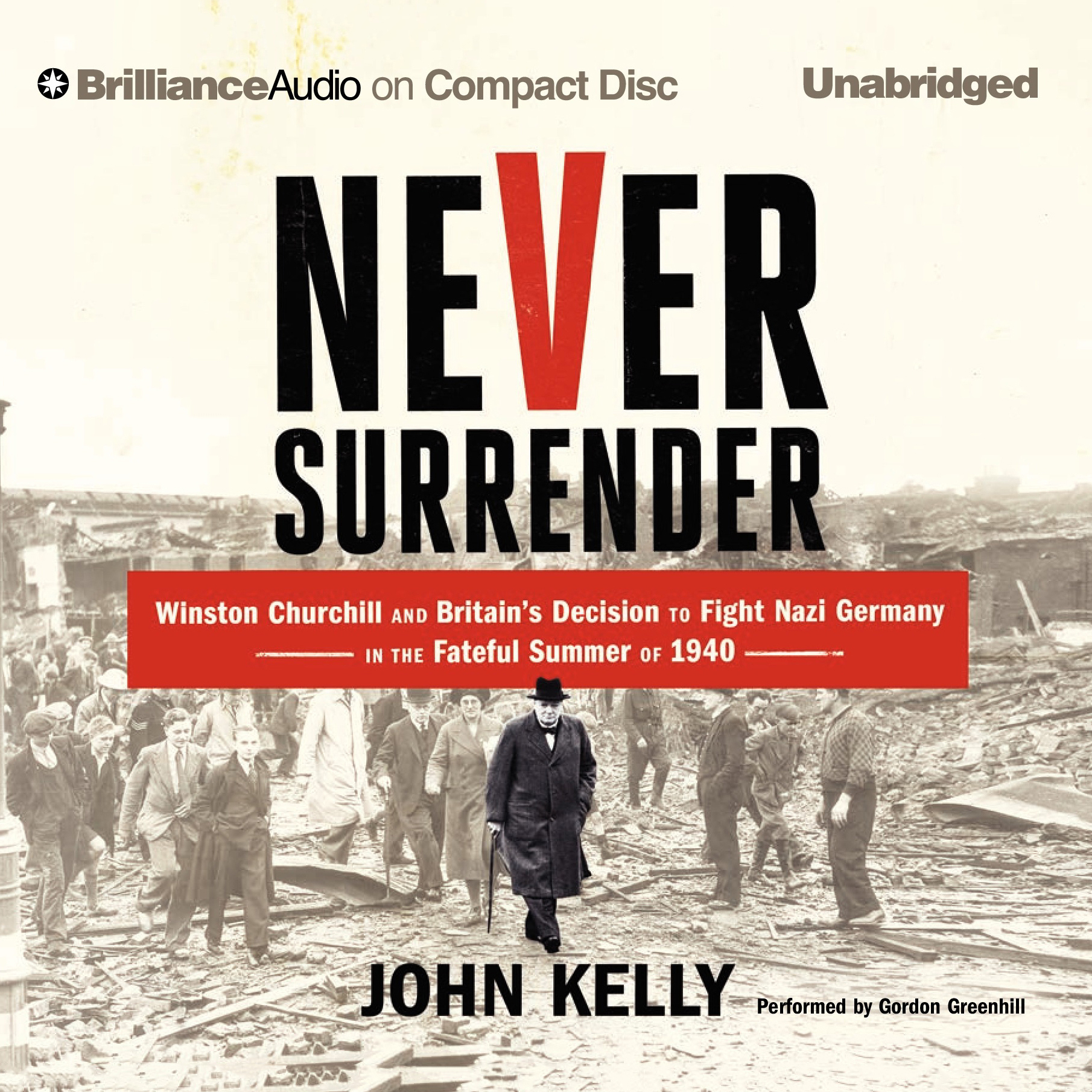 Printable Never Surrender: Winston Churchill and Britain's Decision to Fight Nazi Germany in the Fateful Summer of 1940 Audiobook Cover Art