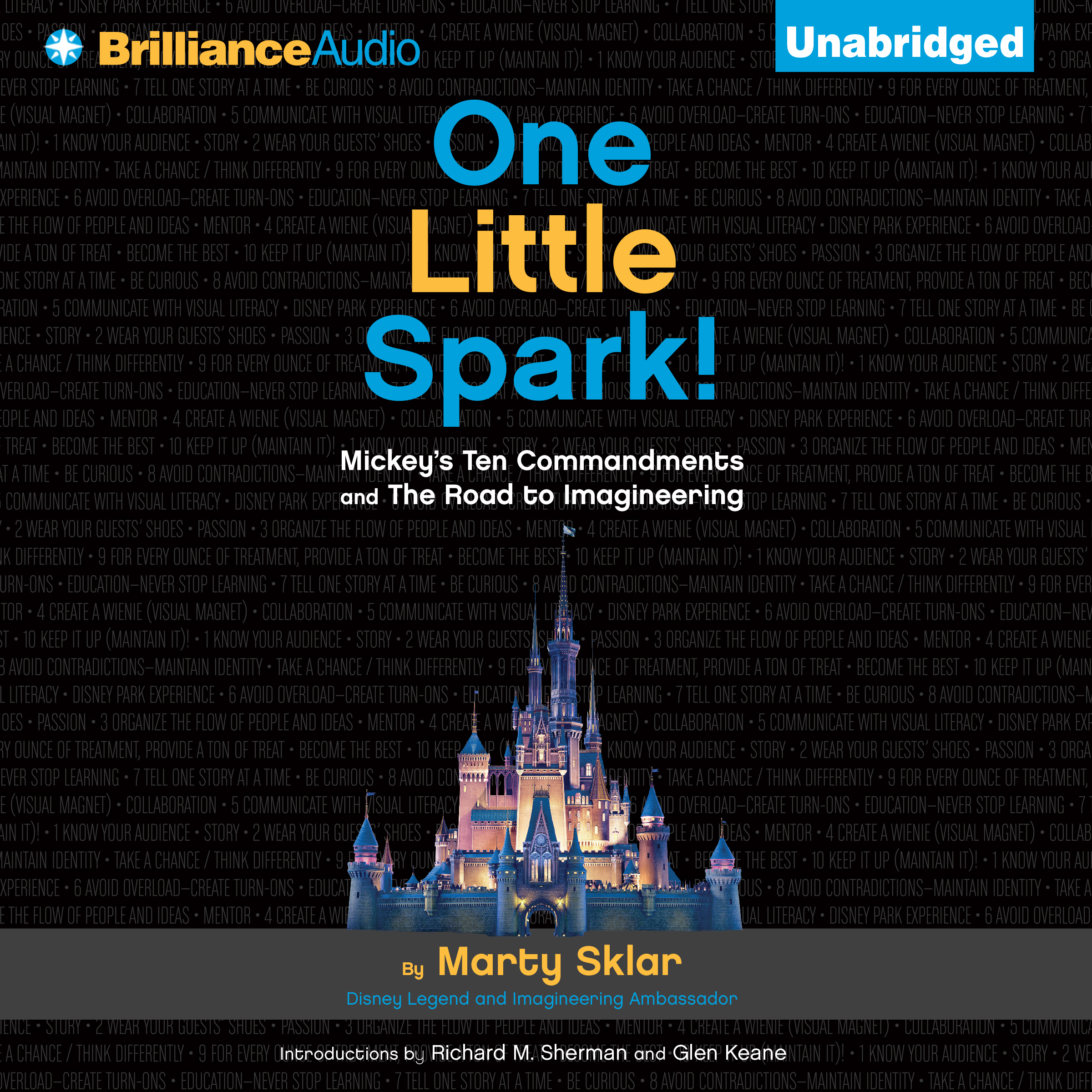 Printable One Little Spark!: Mickey's Ten Commandments and The Road to Imagineering Audiobook Cover Art