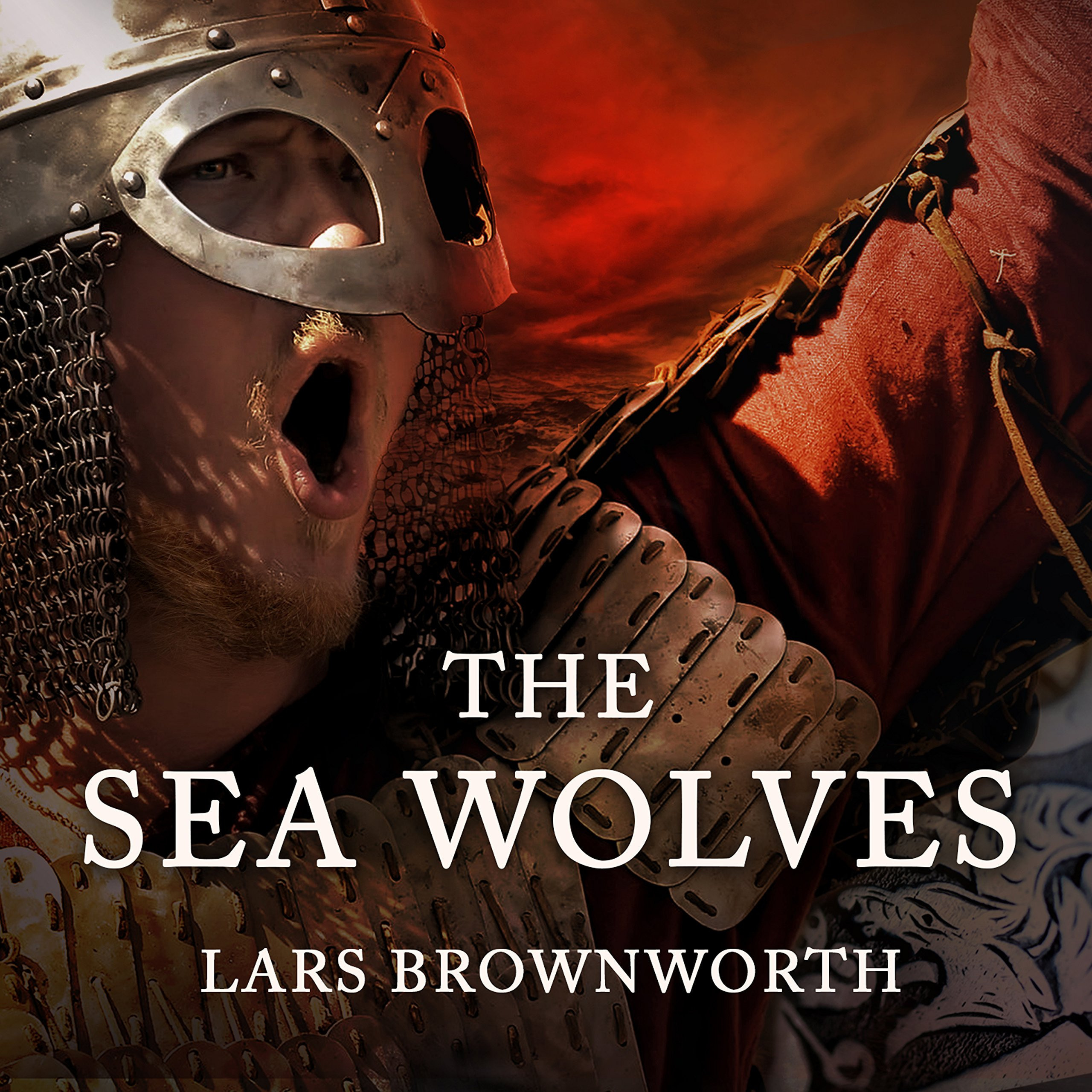 Printable The Sea Wolves: A History of the Vikings Audiobook Cover Art