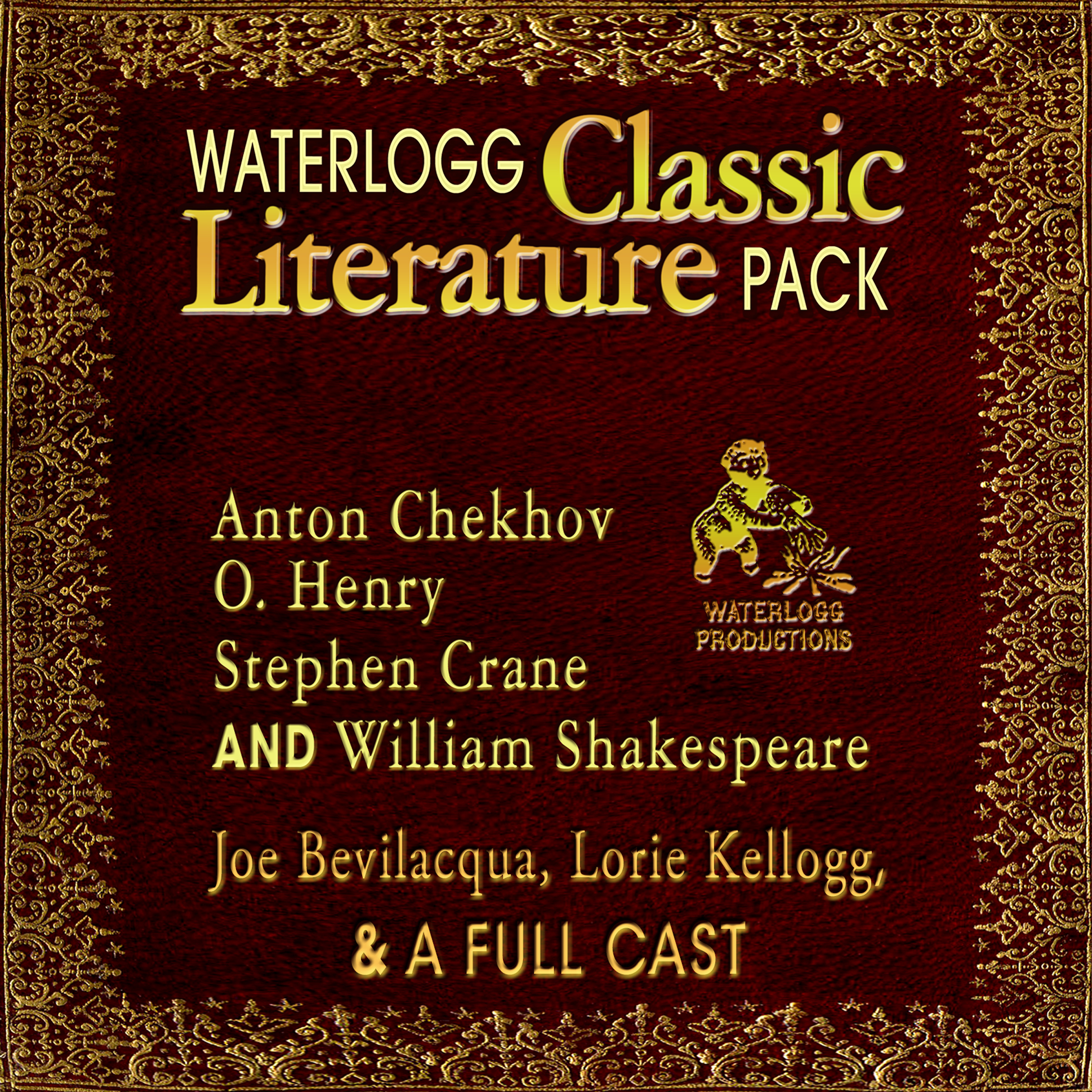 Printable Waterlogg Classic Literature Pack: Anton Chekhov, O. Henry, Stephen Crane, and William Shakespeare Audiobook Cover Art