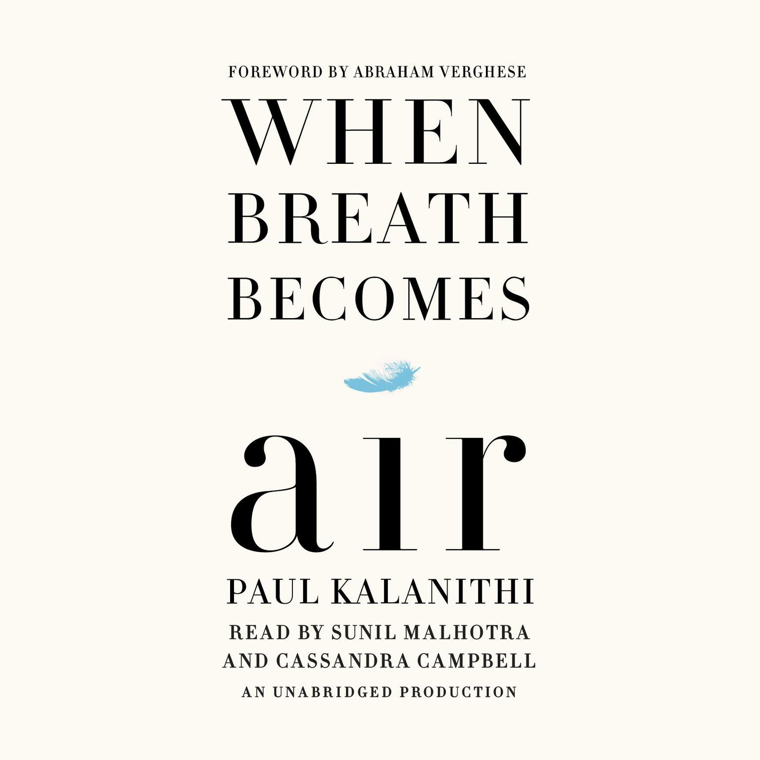 Printable When Breath Becomes Air Audiobook Cover Art