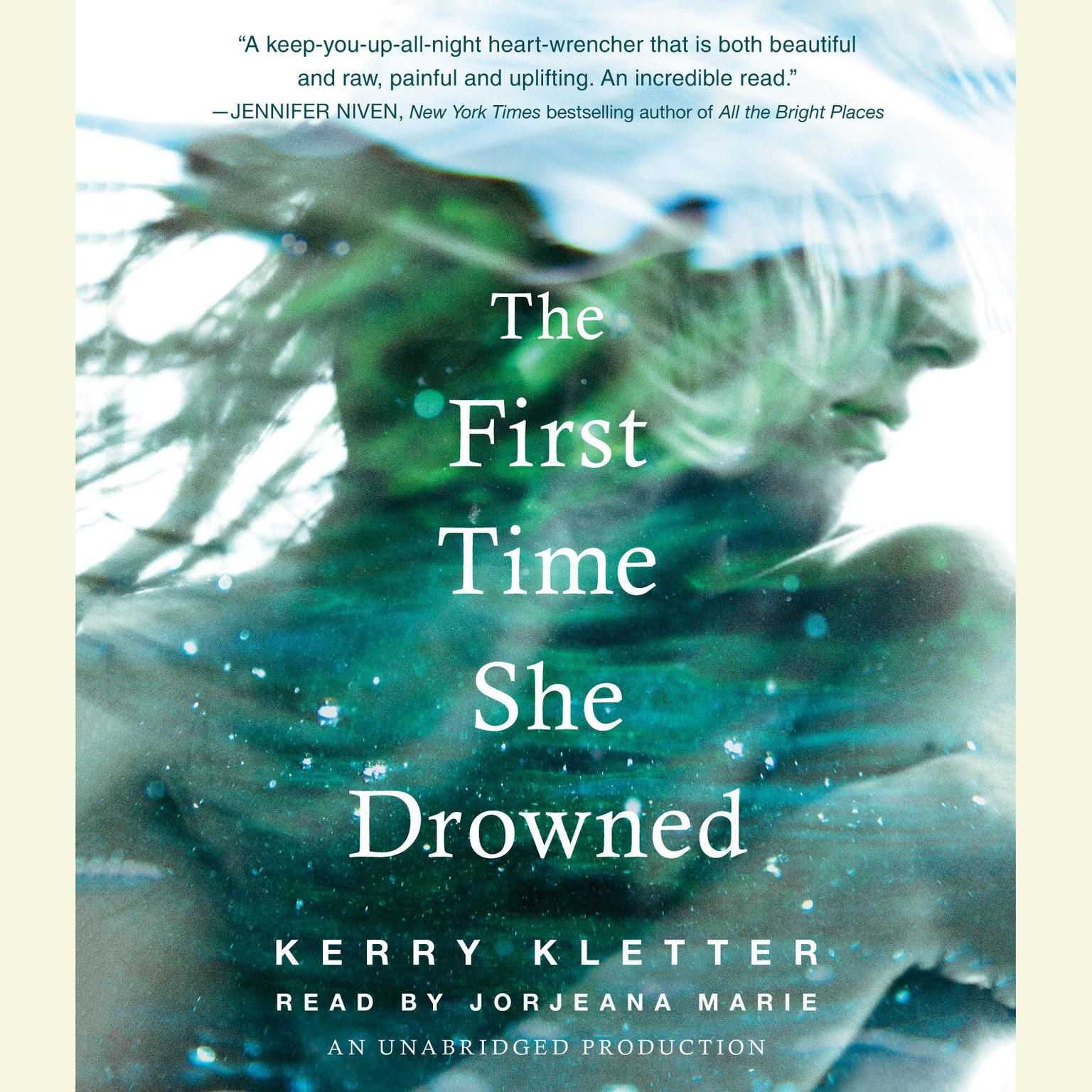 Printable The First Time She Drowned Audiobook Cover Art