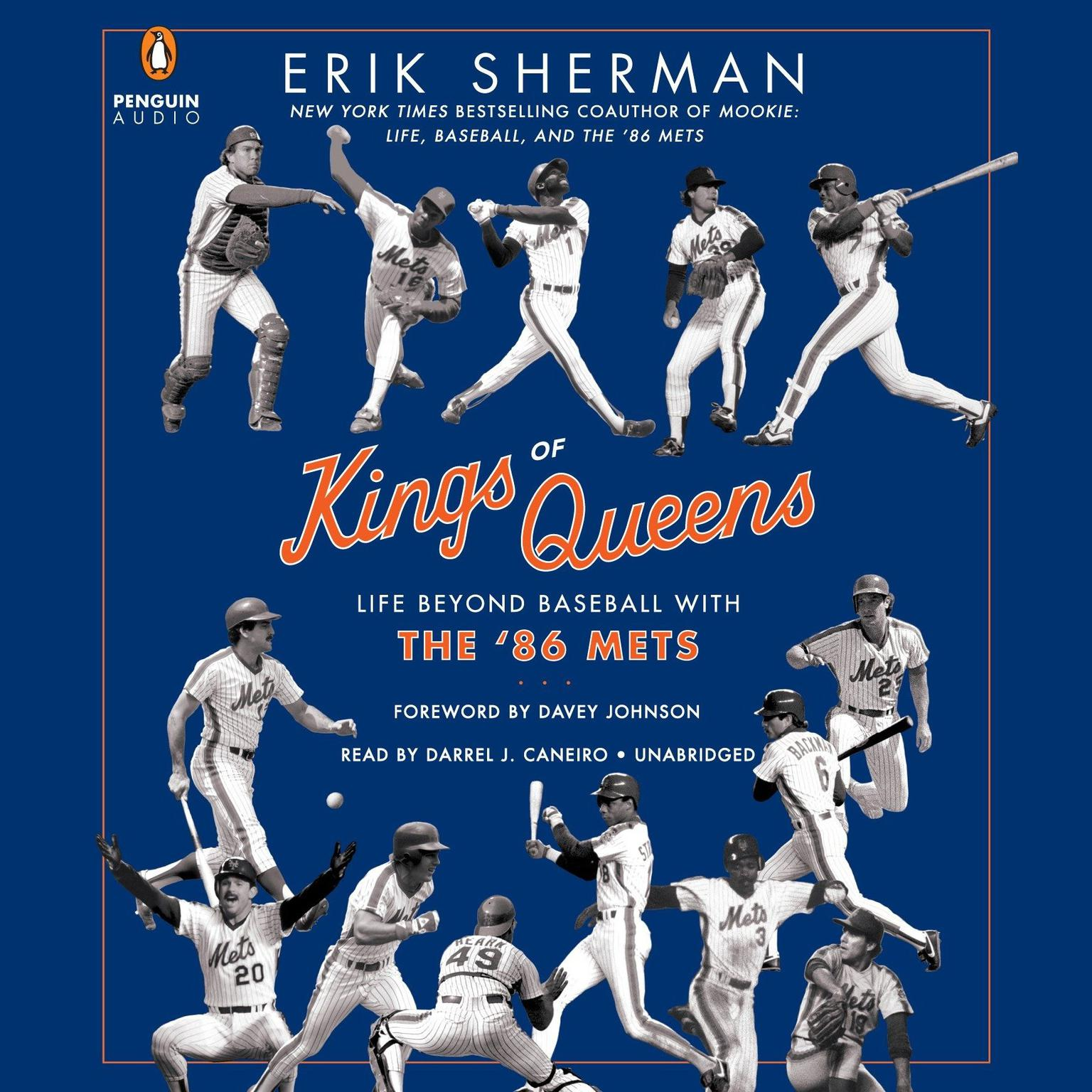 Printable Kings of Queens: Life Beyond Baseball with '86 Mets Audiobook Cover Art