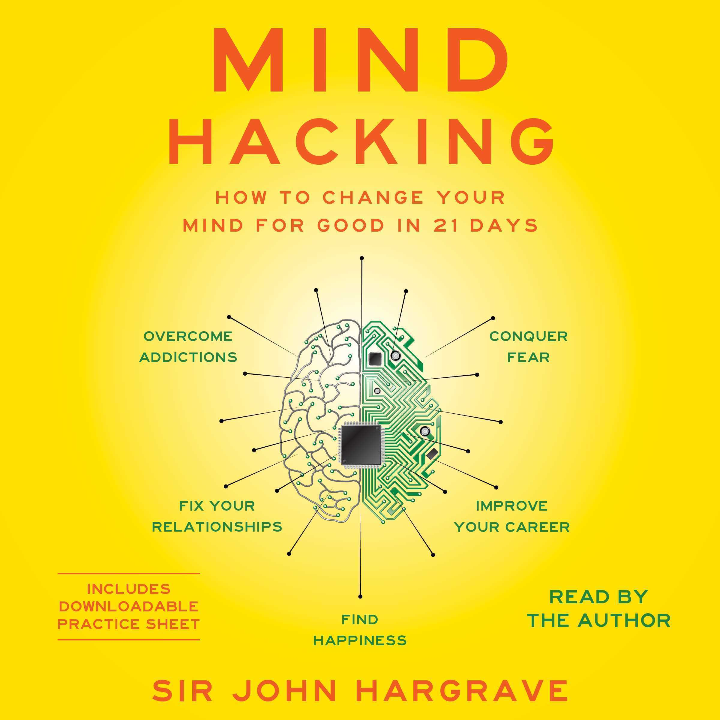 Printable Mind Hacking: How to Change Your Mind for Good in 21 Days Audiobook Cover Art