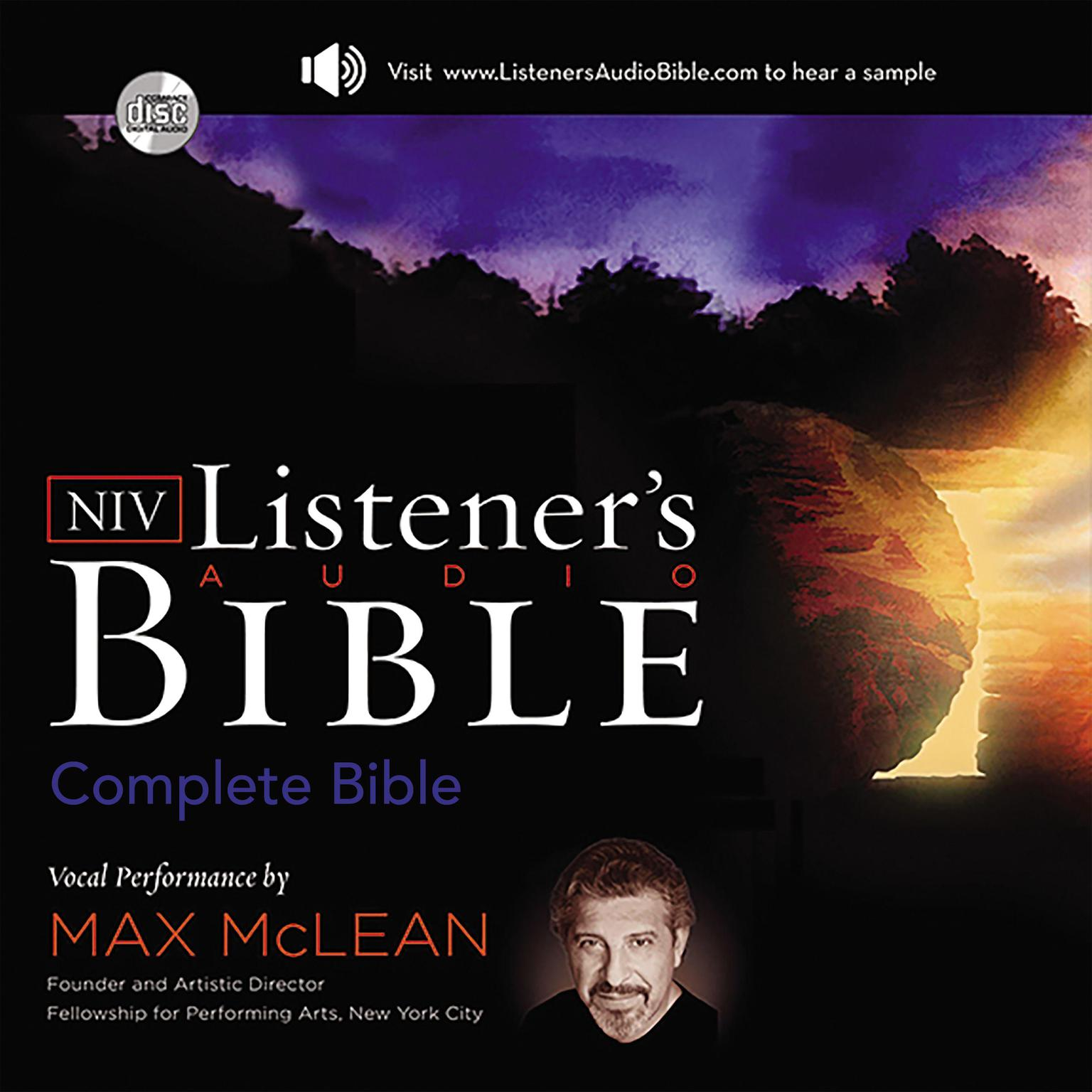 Printable Listener's Audio Bible - New International Version, NIV: Complete Bible: Vocal Performance by Max McLean Audiobook Cover Art