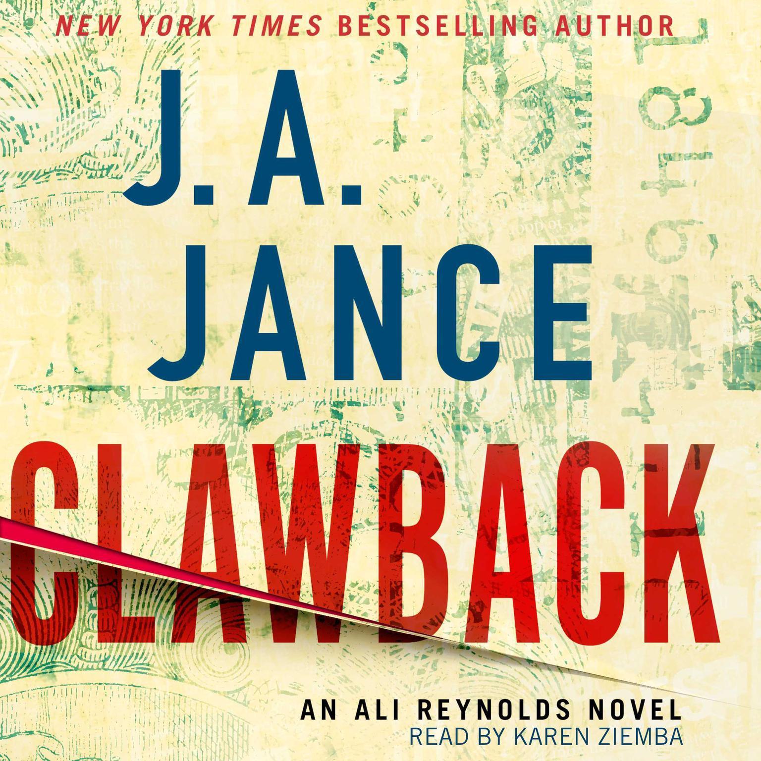 Clawback: An Ali Reynolds Novel Audiobook, by J. A. Jance