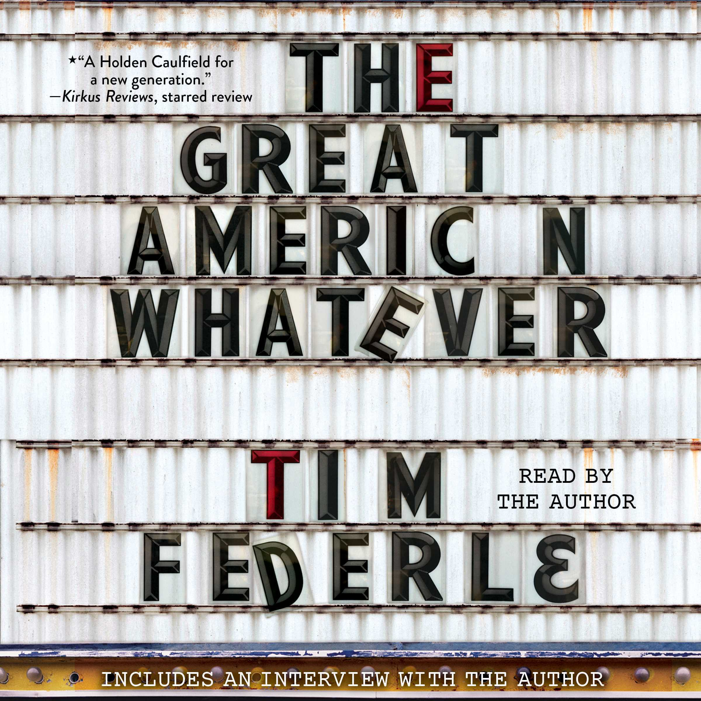 Printable The Great American Whatever Audiobook Cover Art