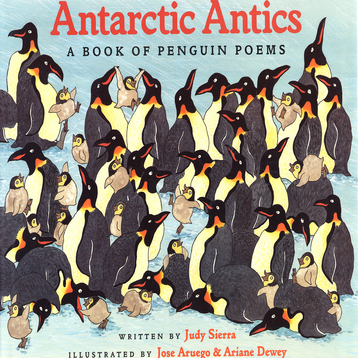 Printable Antarctic Antics: A Book of Penguin Poems Audiobook Cover Art