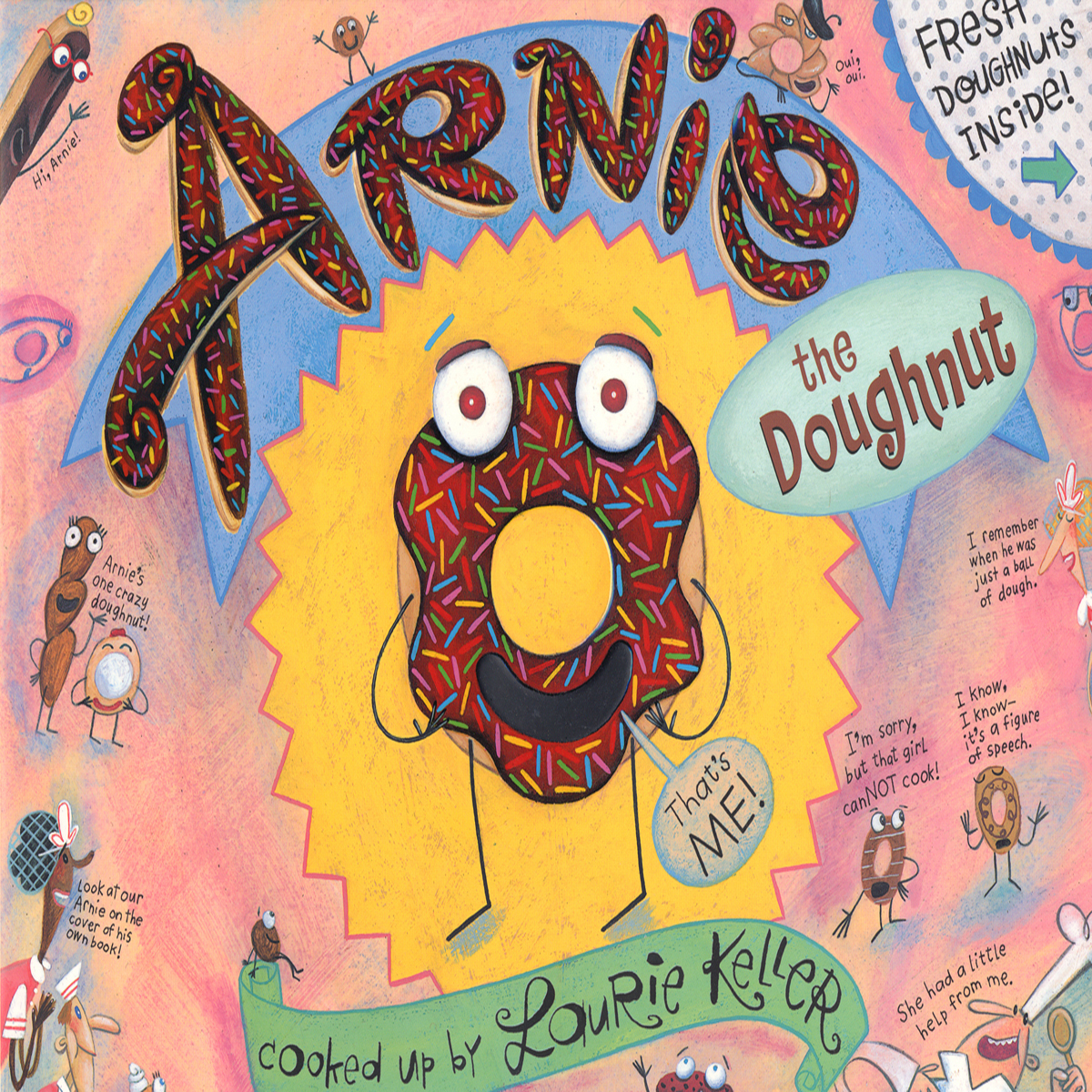Printable Arnie the Doughnut Audiobook Cover Art