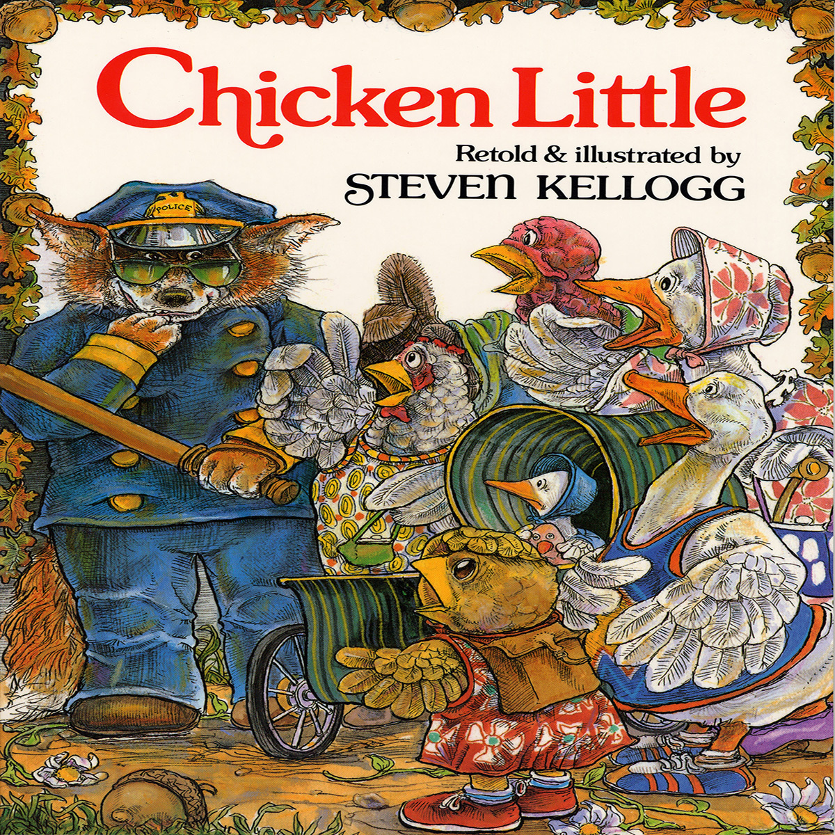 Printable Chicken Little Audiobook Cover Art