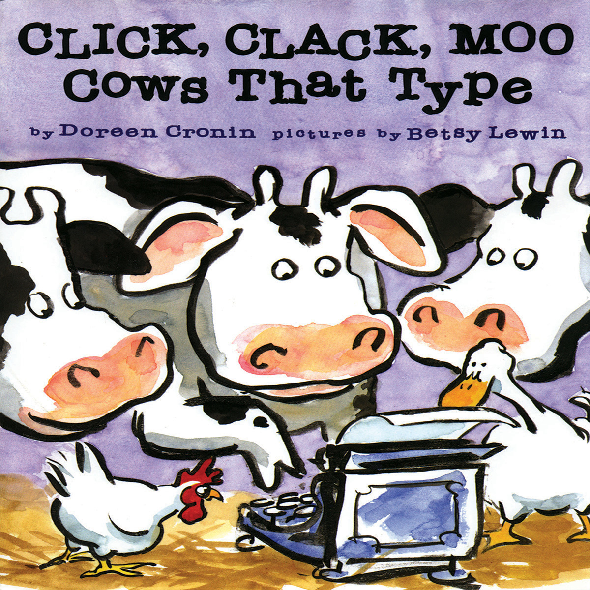 Printable Click, Clack, Moo: Cows That Type Audiobook Cover Art