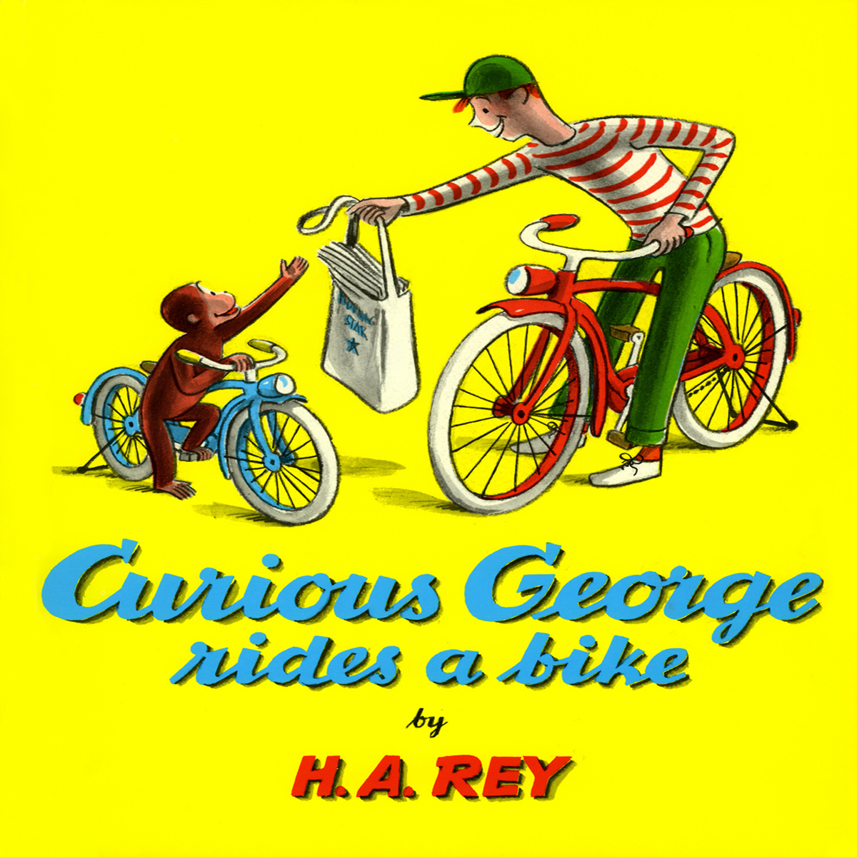 Printable Curious George Rides a Bike Audiobook Cover Art