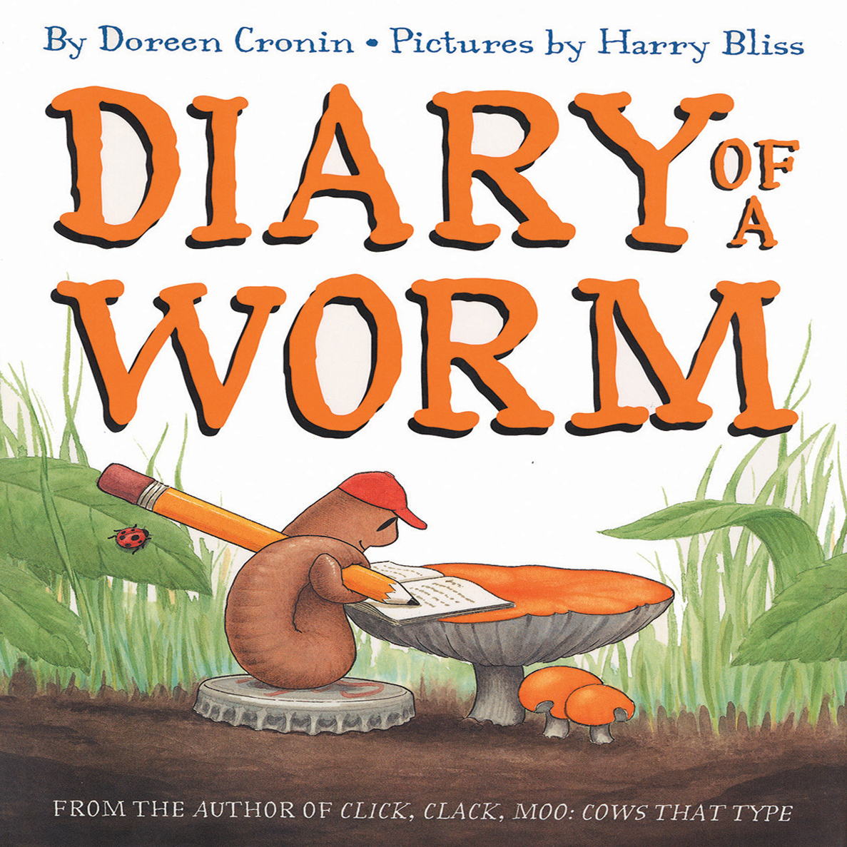 Printable Diary of a Worm Audiobook Cover Art