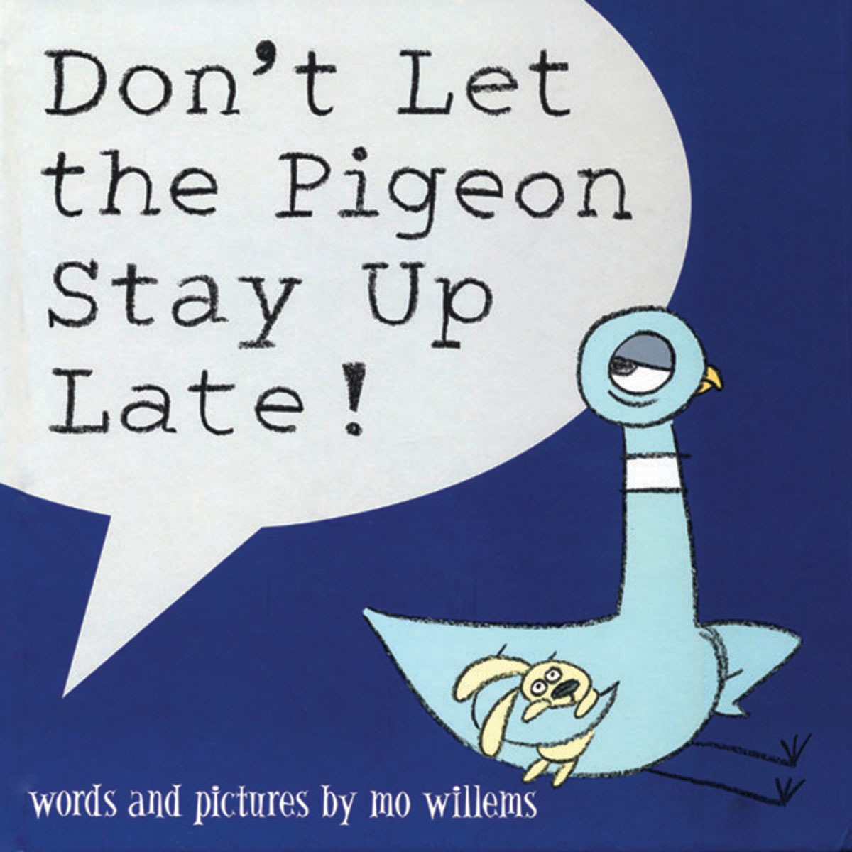 Printable Don't Let the Pigeon Stay Up Late Audiobook Cover Art