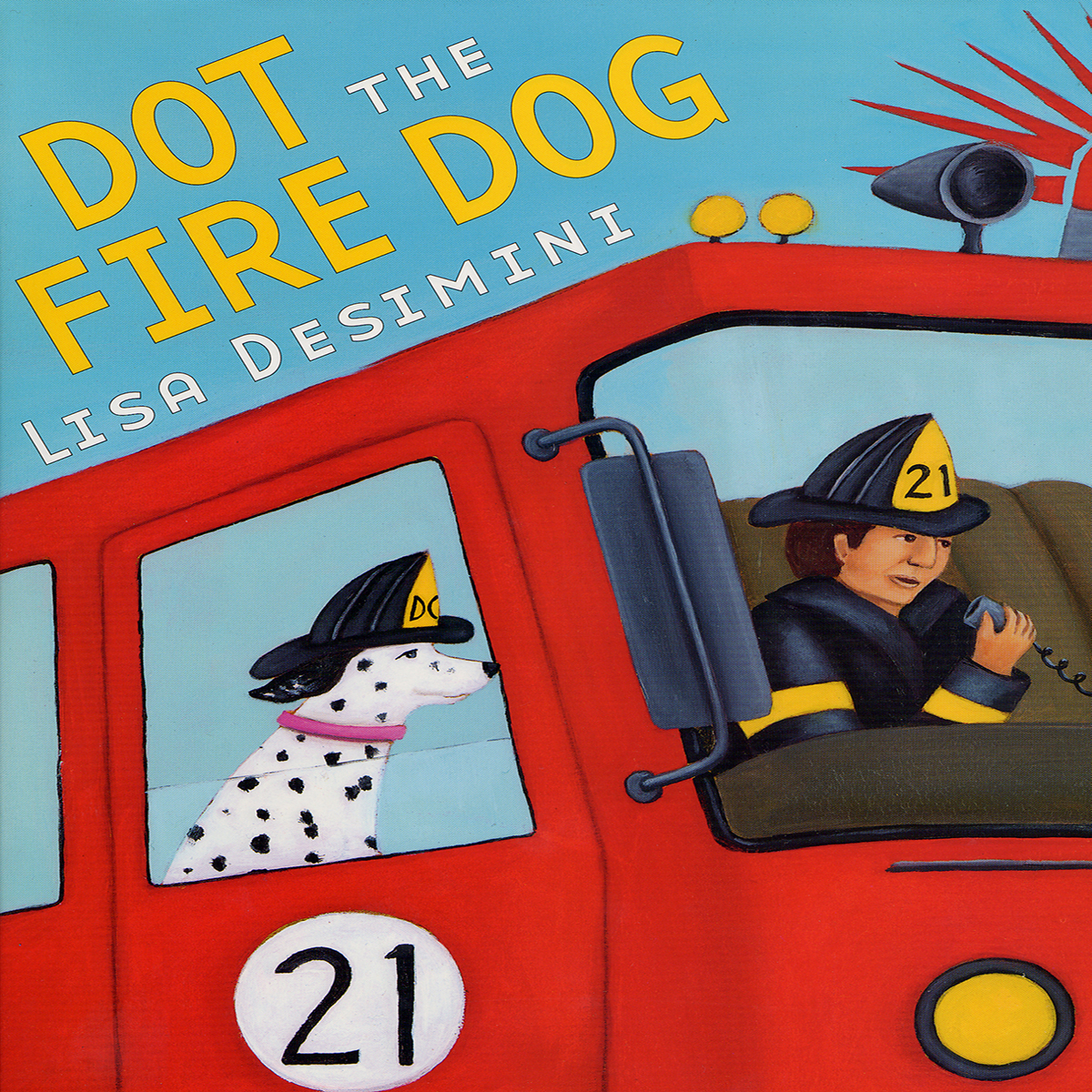 Printable Dot the Fire Dog Audiobook Cover Art