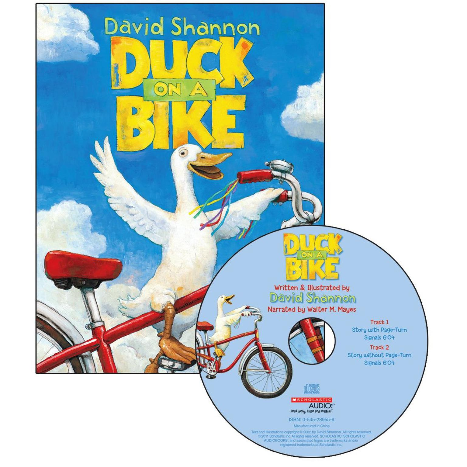 Printable Duck on a Bike Audiobook Cover Art