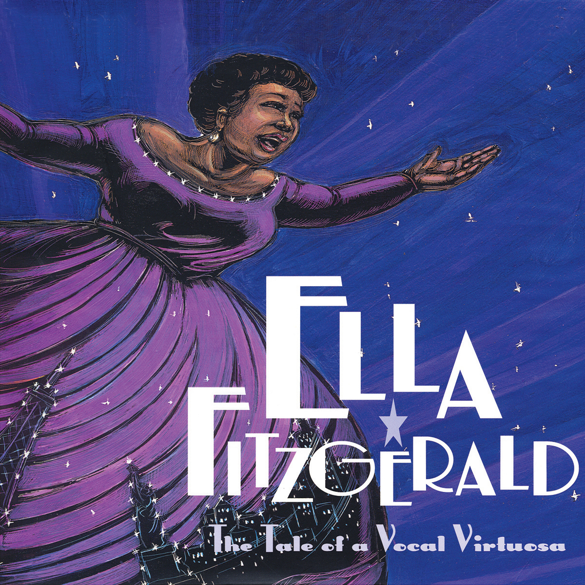 Printable Ella Fitzgerald: The Tale of a Vocal Virtuosa Audiobook Cover Art