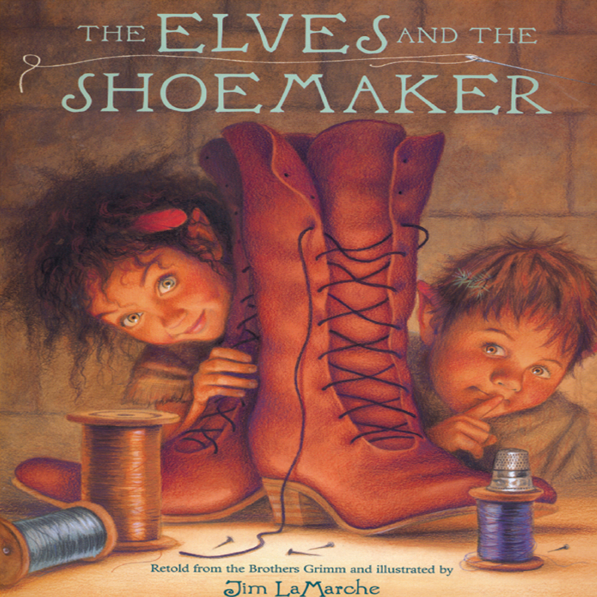 Printable The Elves and the Shoemaker Audiobook Cover Art