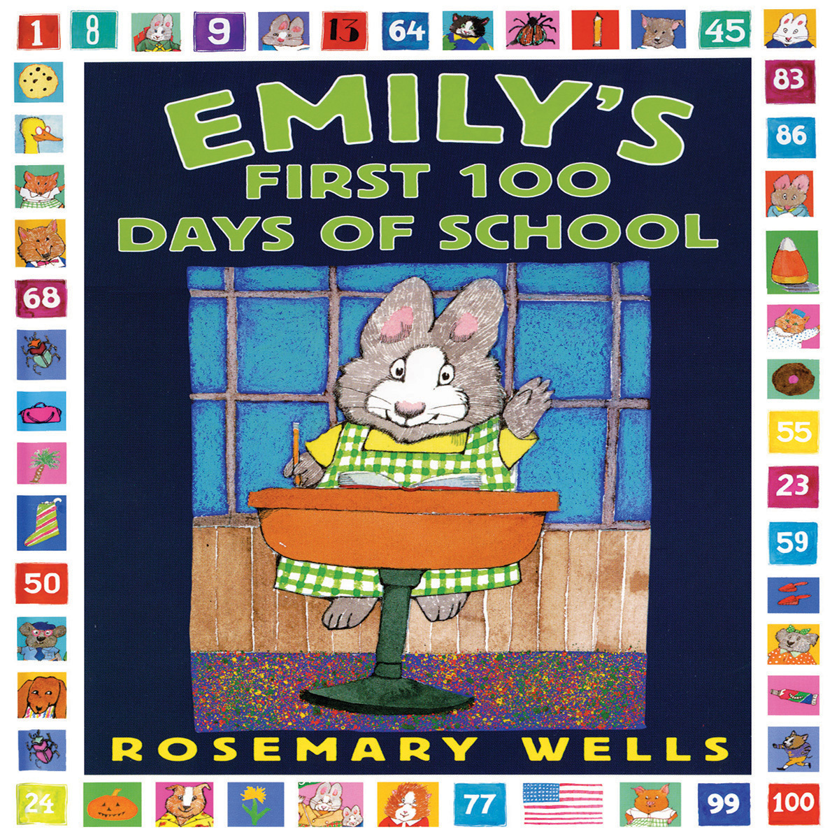 Printable Emily's First 100 Days of School Audiobook Cover Art