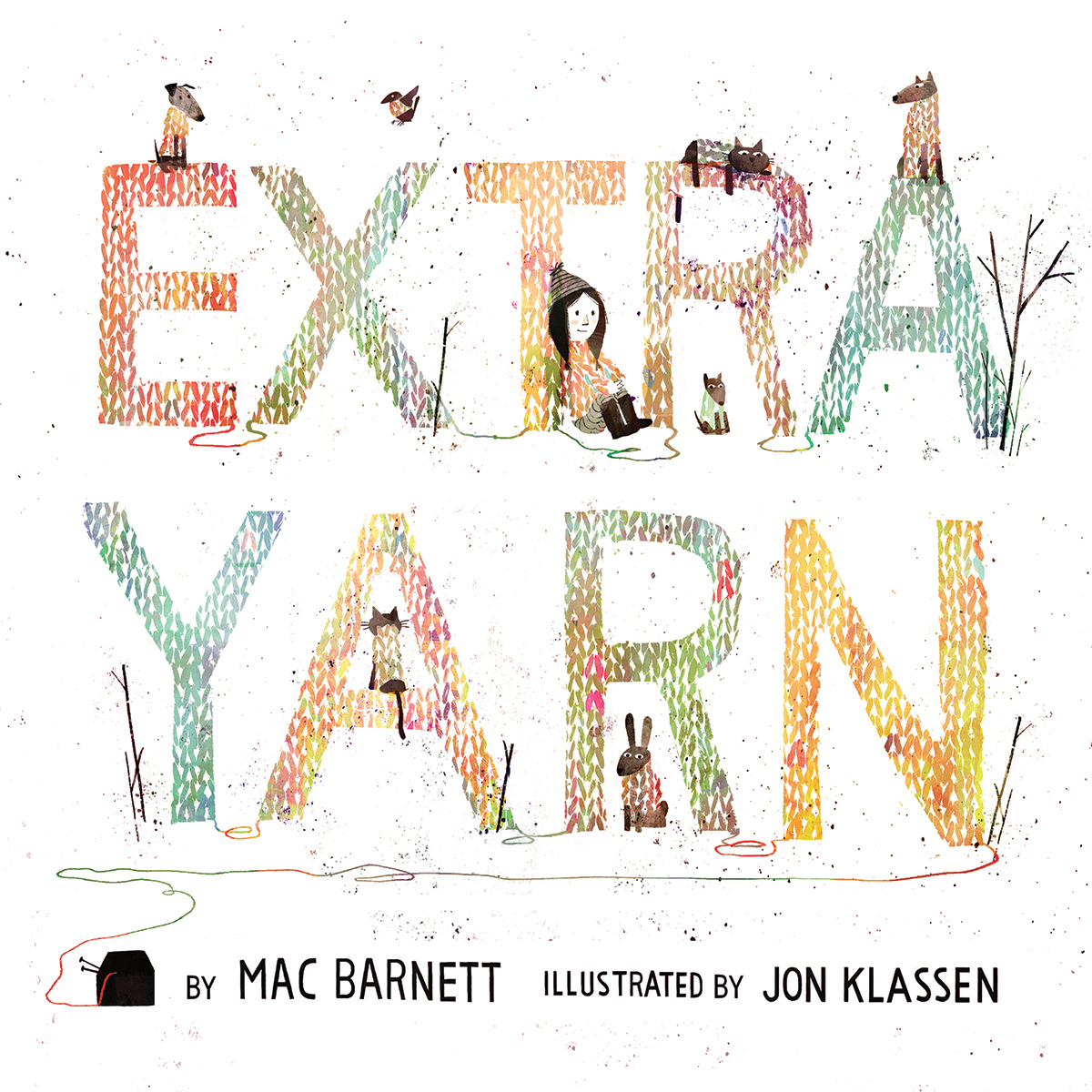 Printable Extra Yarn Audiobook Cover Art