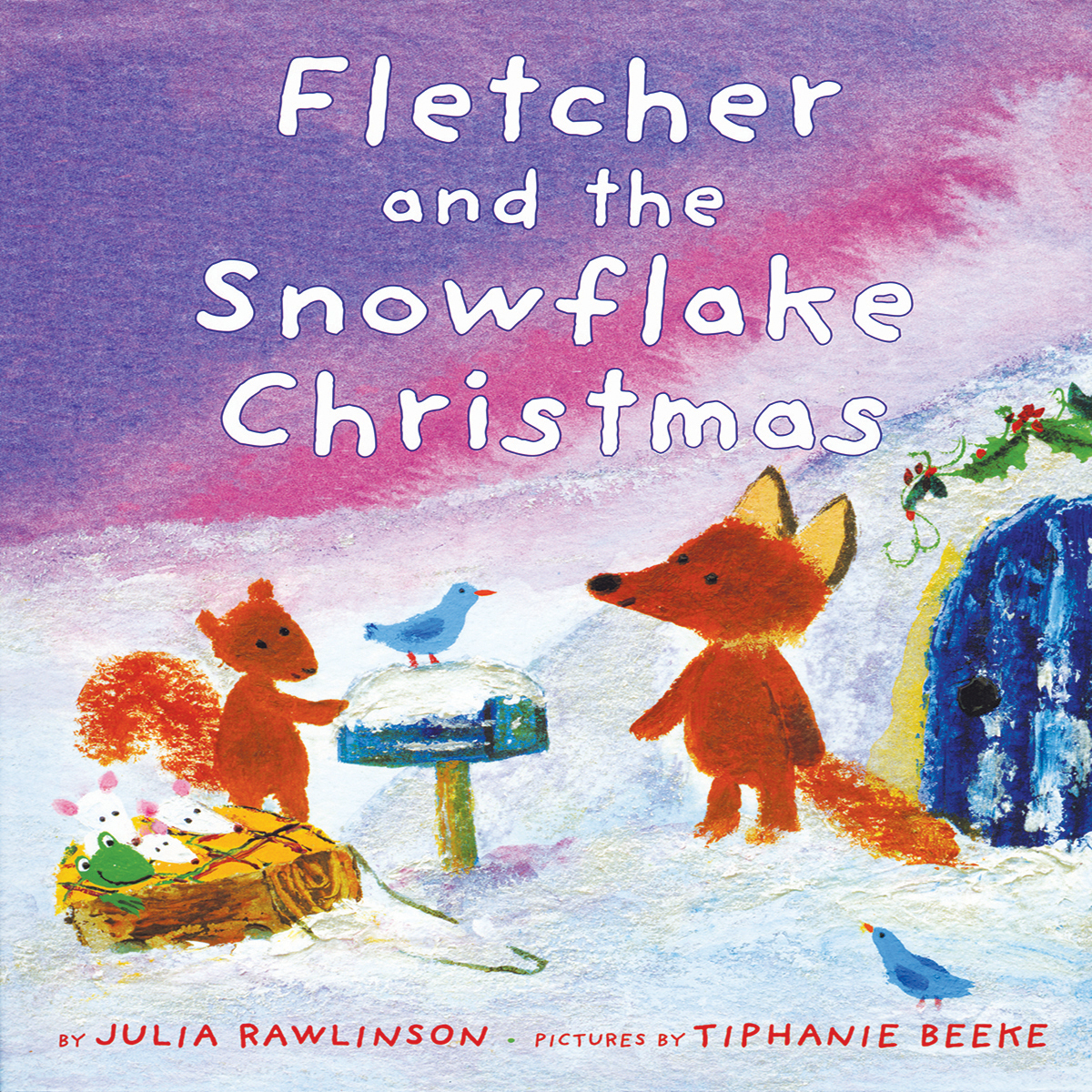 Printable Fletcher and the Snowflake Christmas Audiobook Cover Art