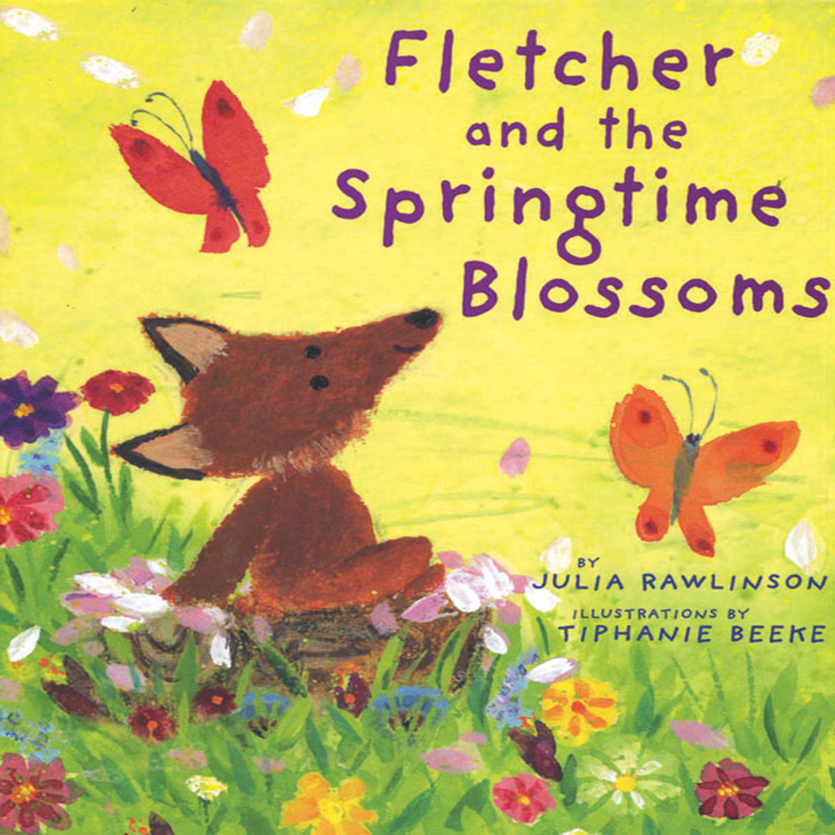 Printable Fletcher and the Springtime Blossoms Audiobook Cover Art