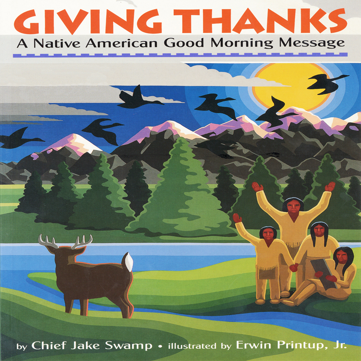 Printable Giving Thanks: A Native American Good Morning Message Audiobook Cover Art